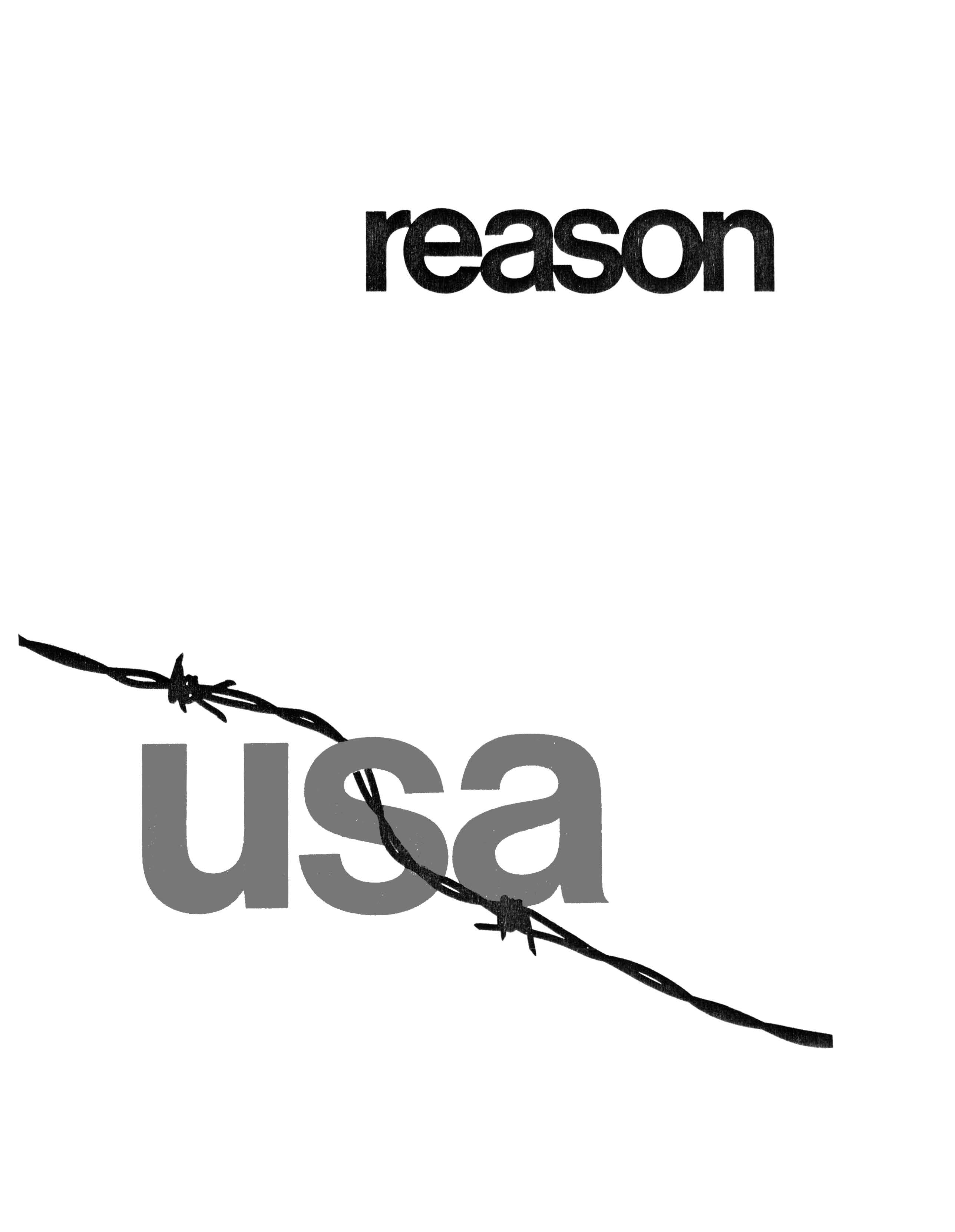 Reason Magazine, May/June 1970 cover image