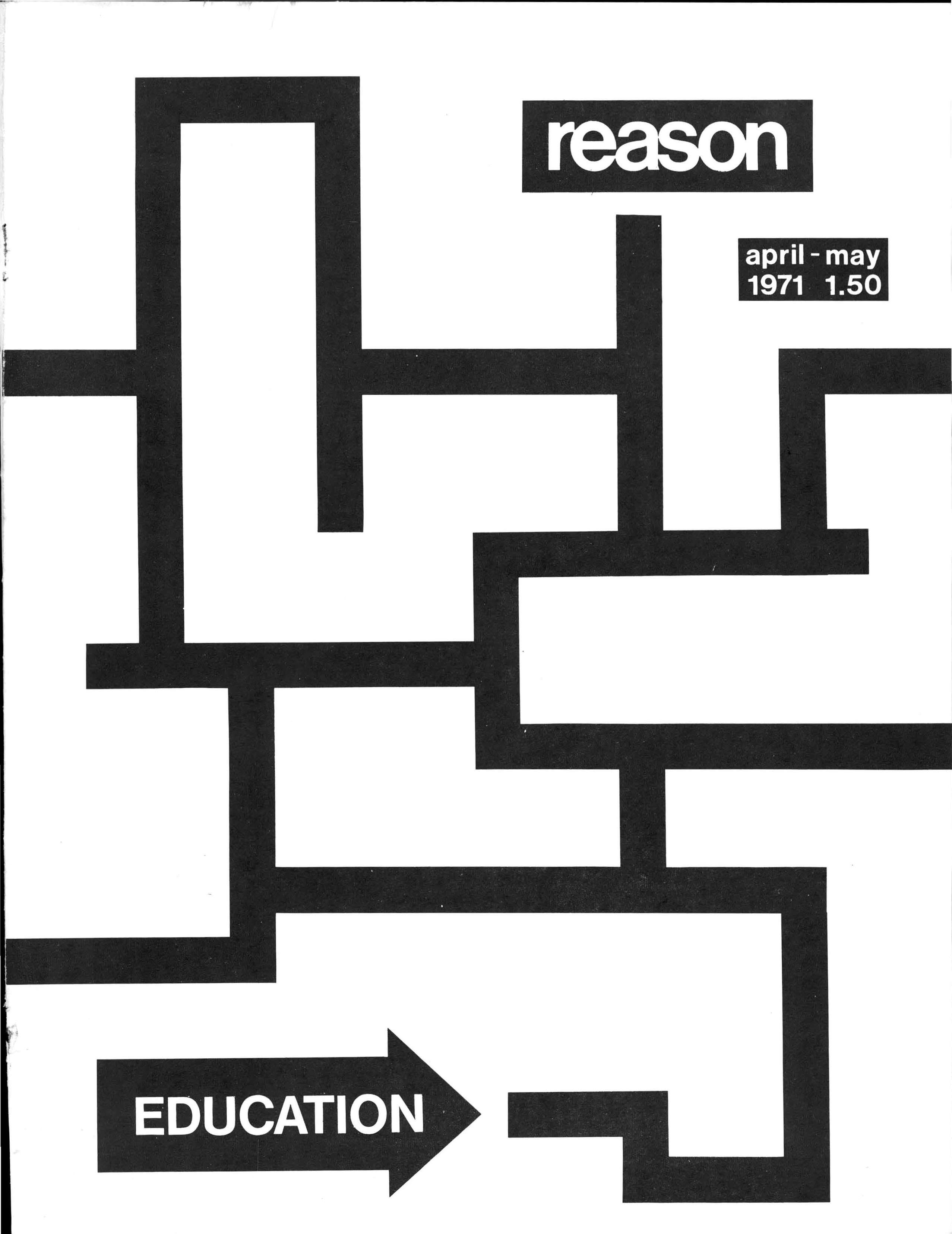 Reason Magazine, April 1971 cover image