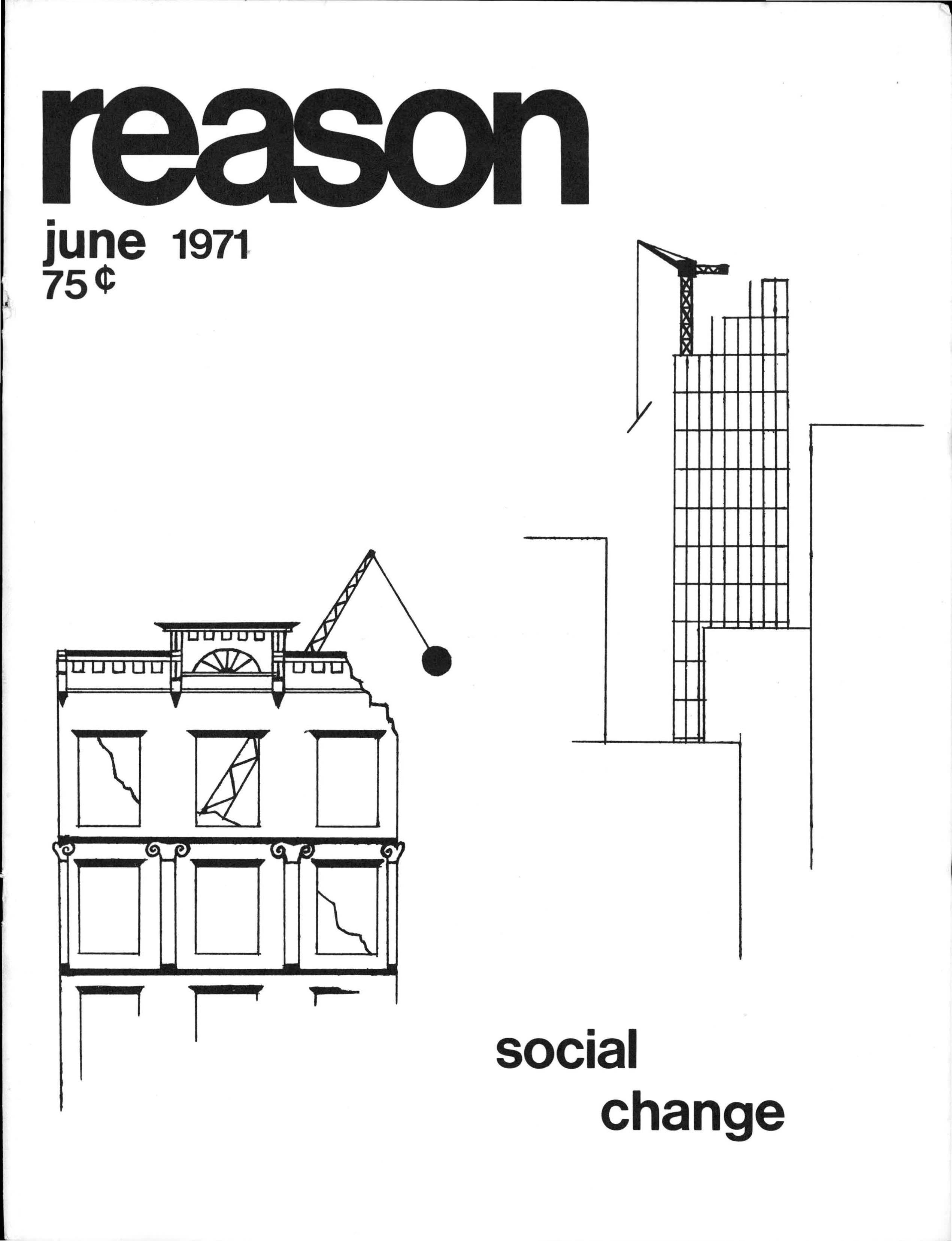 Reason Magazine, June 1971 cover image