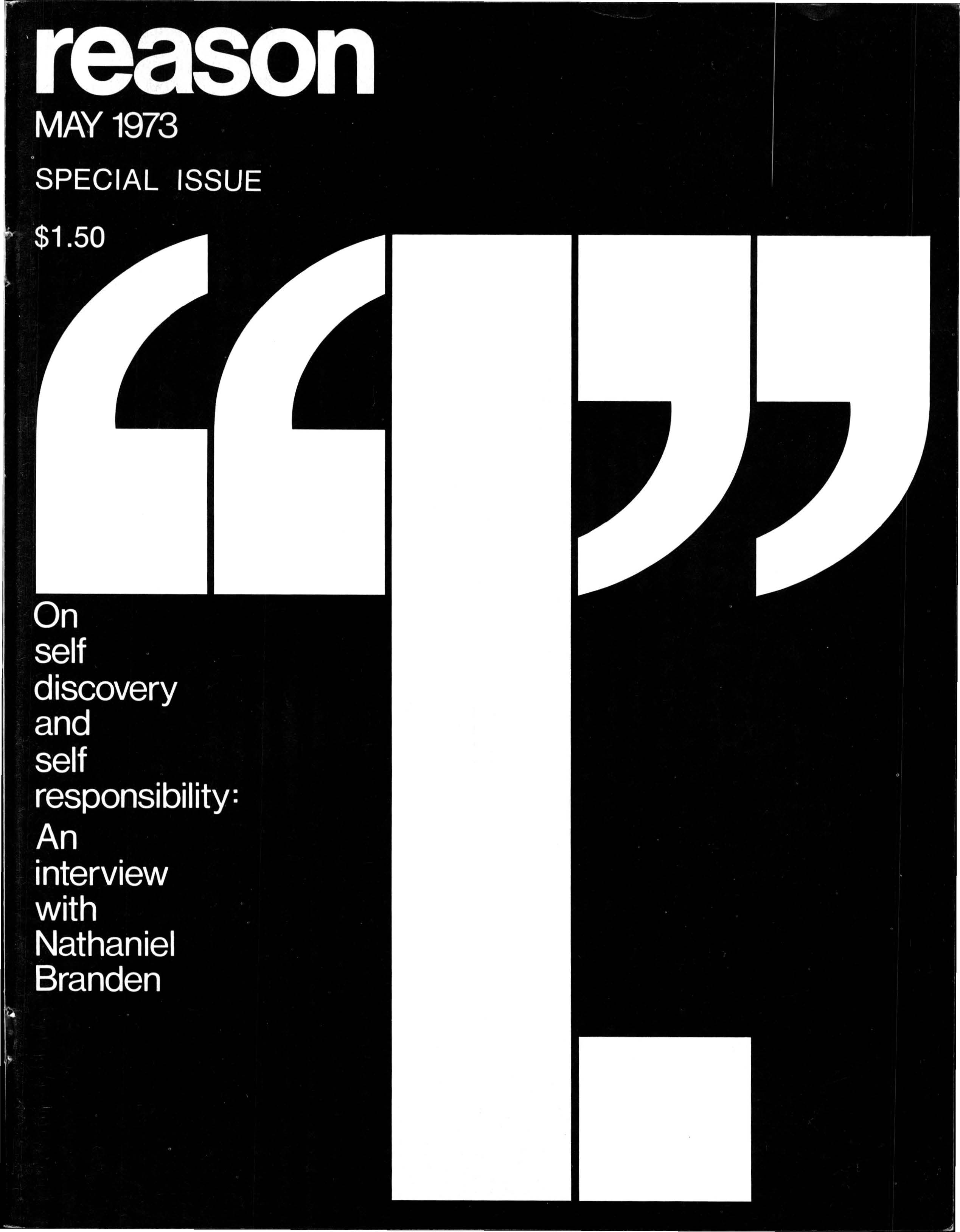 Reason Magazine, May 1973 cover image