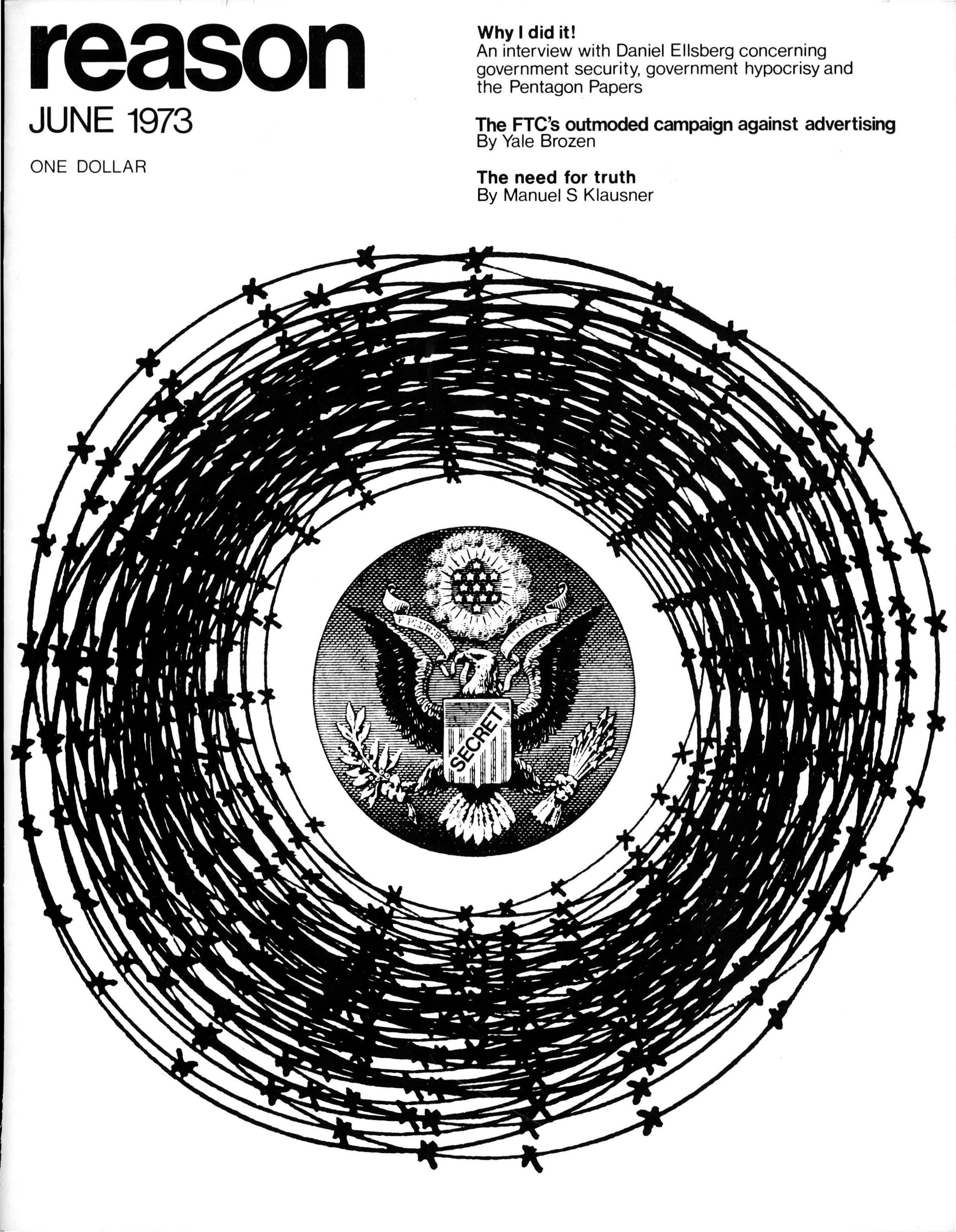 Reason Magazine, June 1973 cover image
