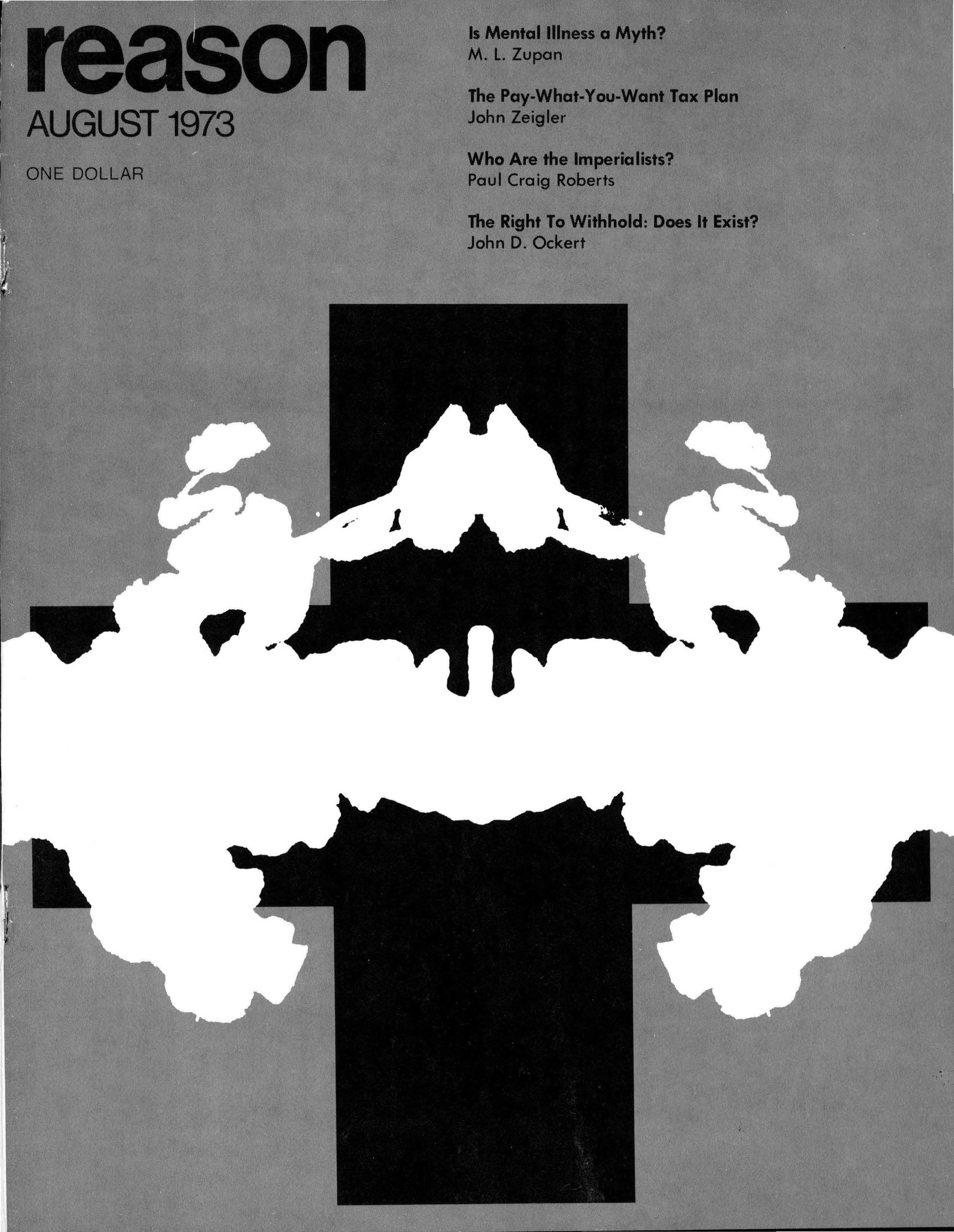 Reason Magazine, August 1973 cover image