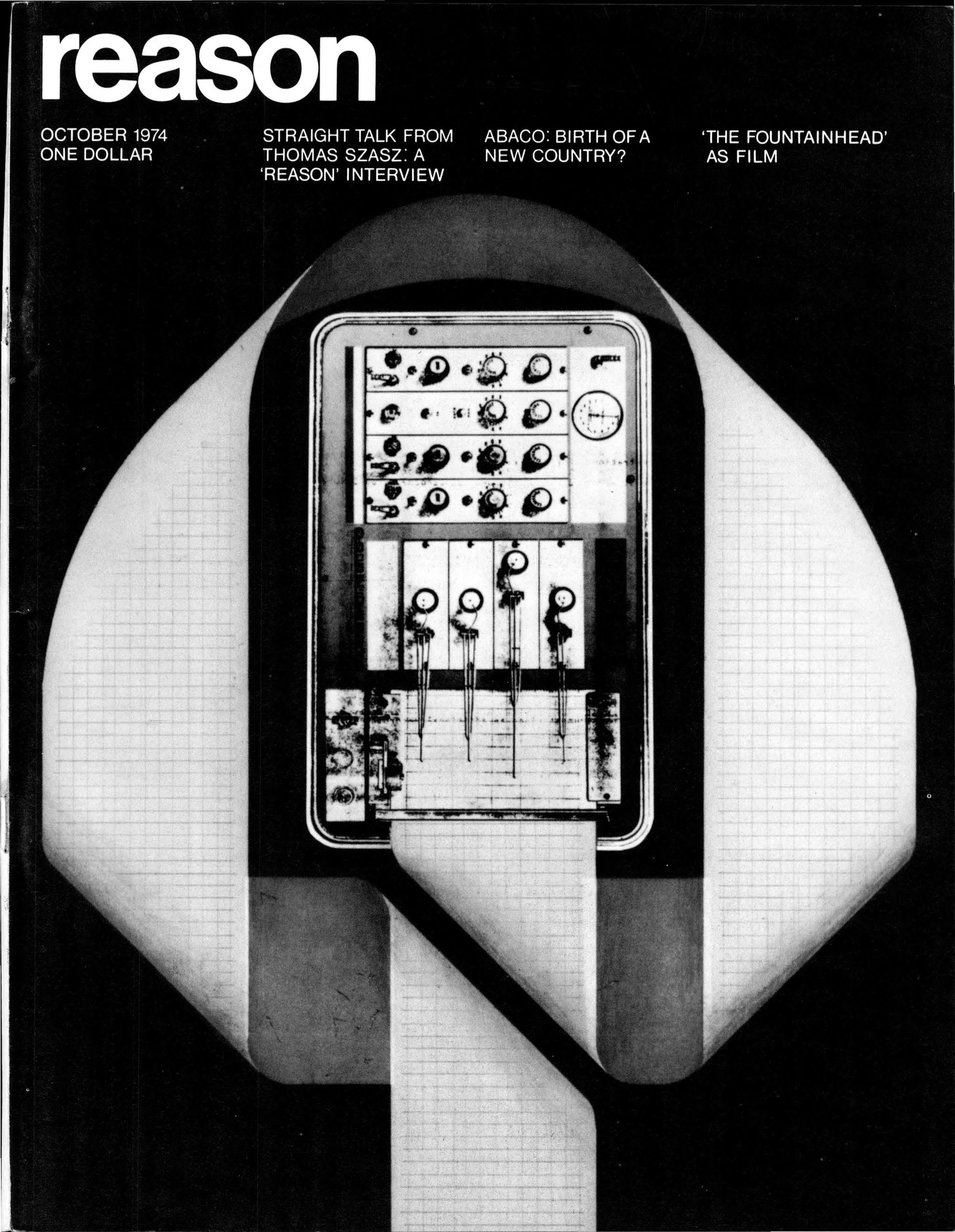 Reason Magazine, October 1974 cover image