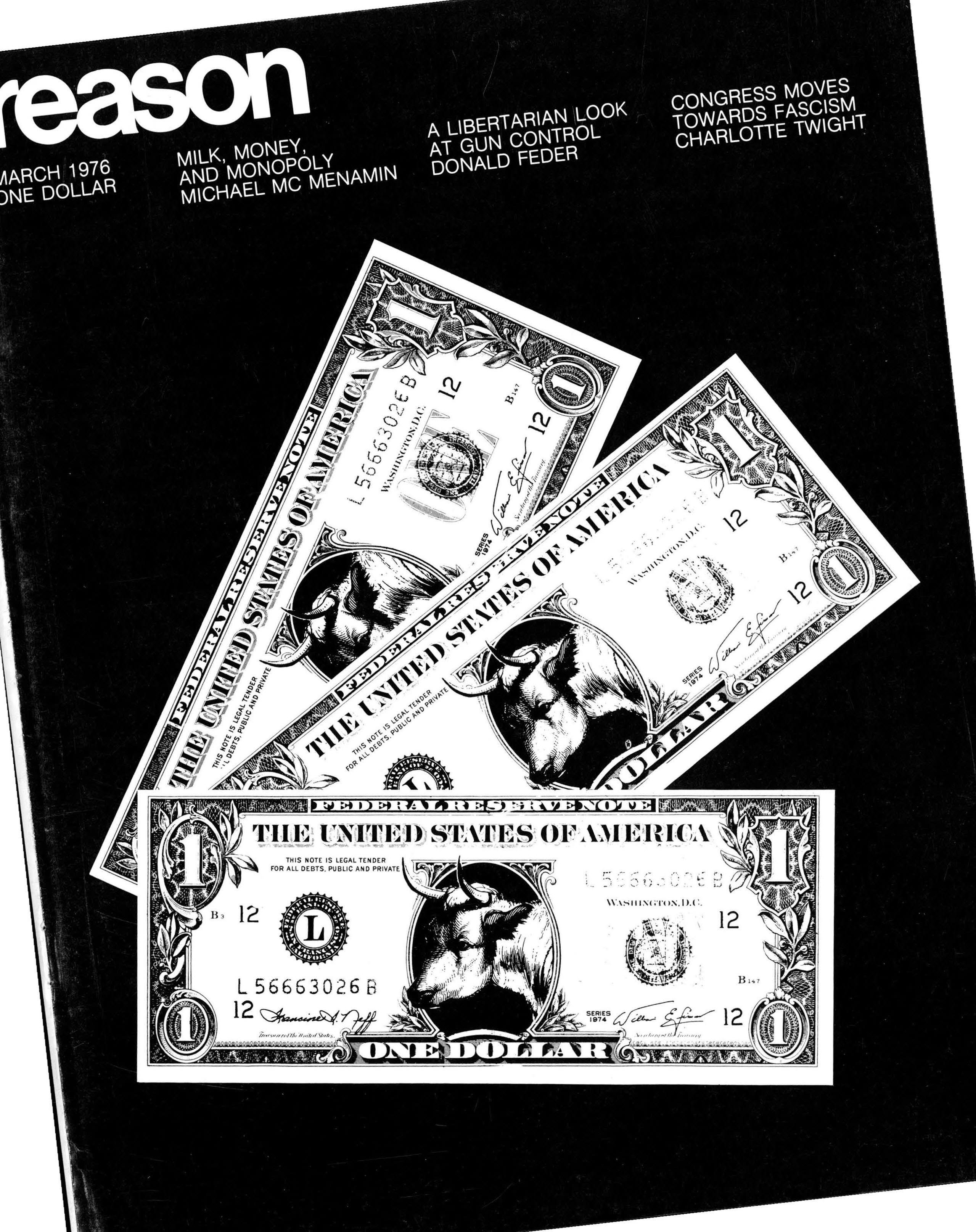 Reason Magazine, March 1976 cover image