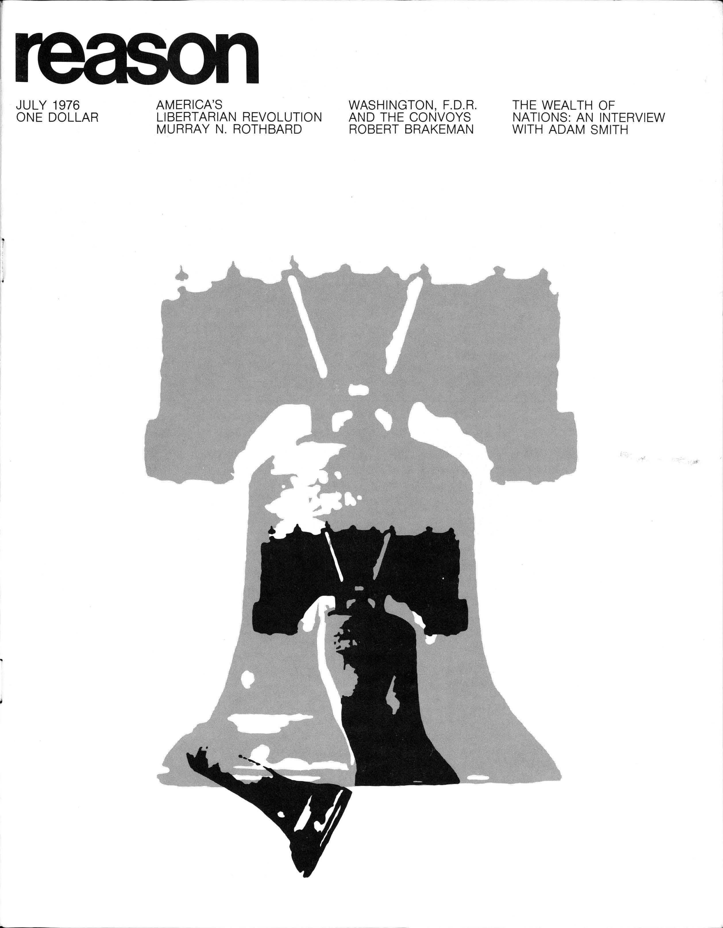 Reason Magazine, July 1976 cover image