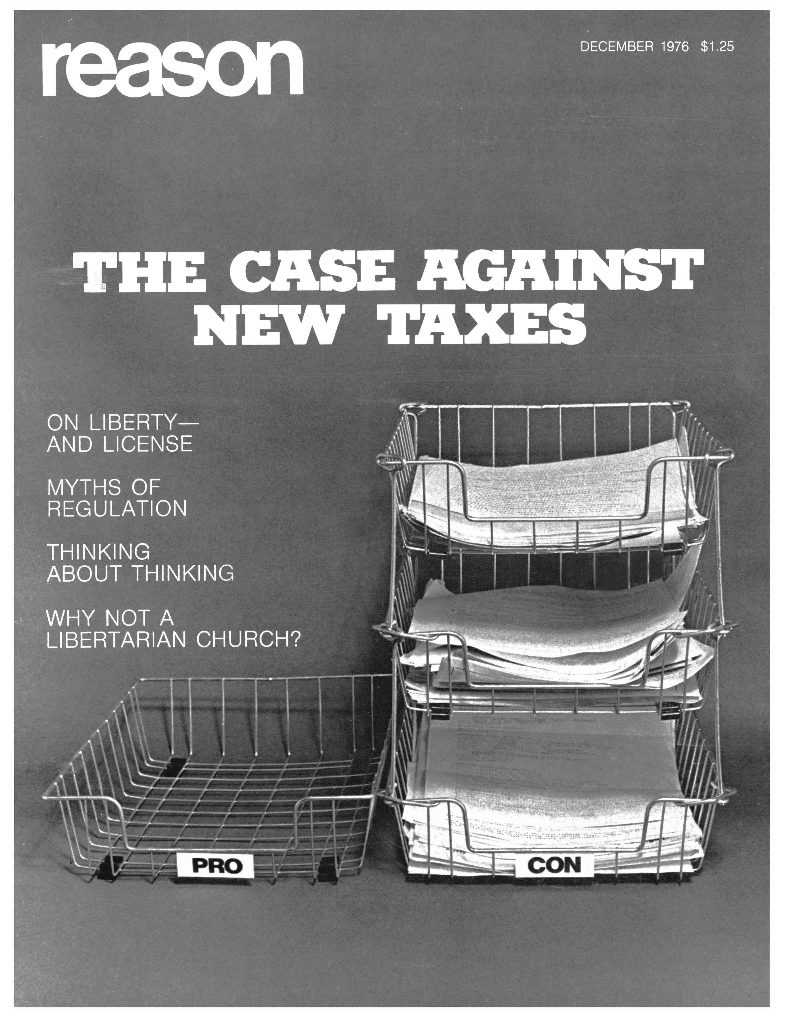 Reason Magazine, December 1976 cover image