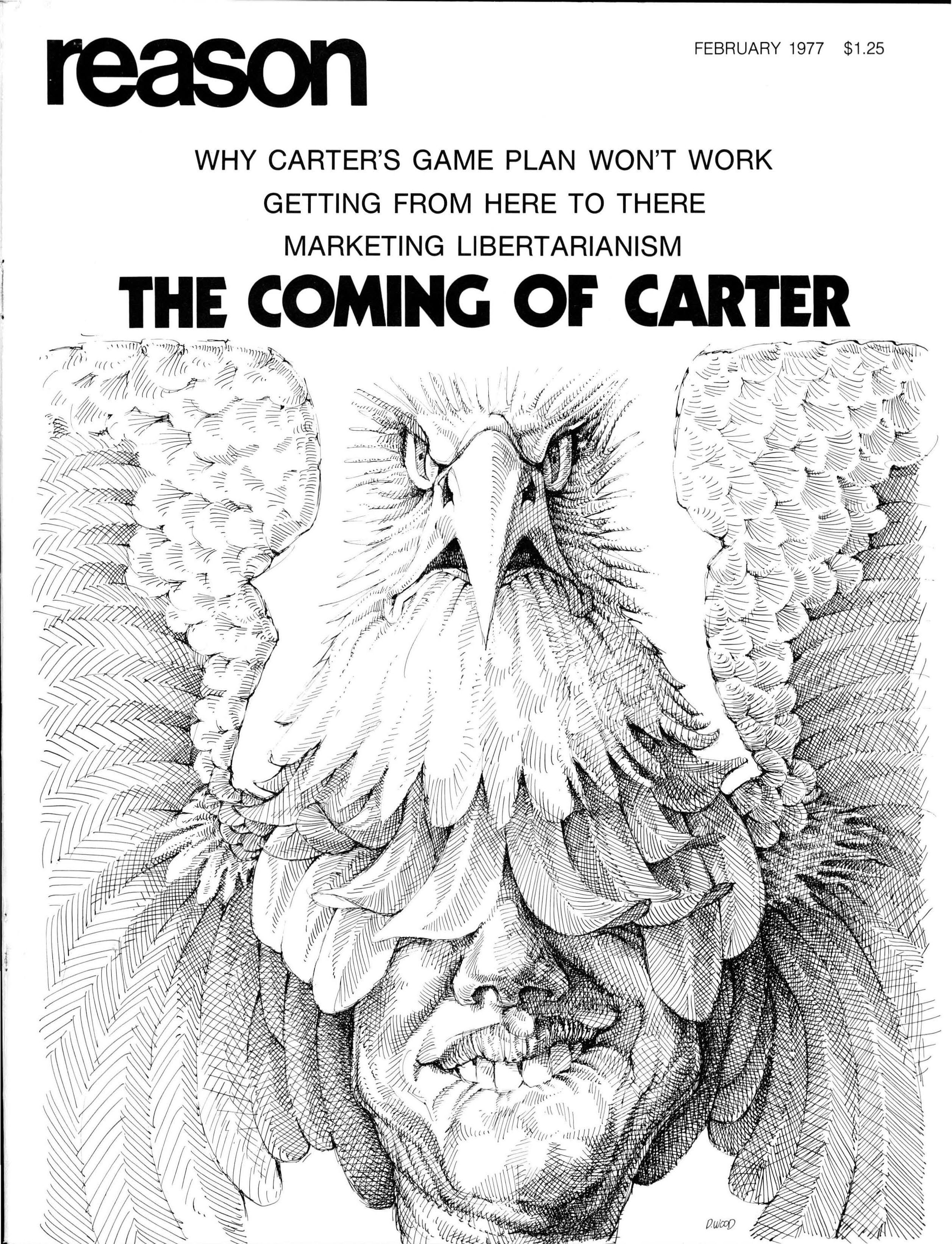 Reason Magazine, February 1977 cover image