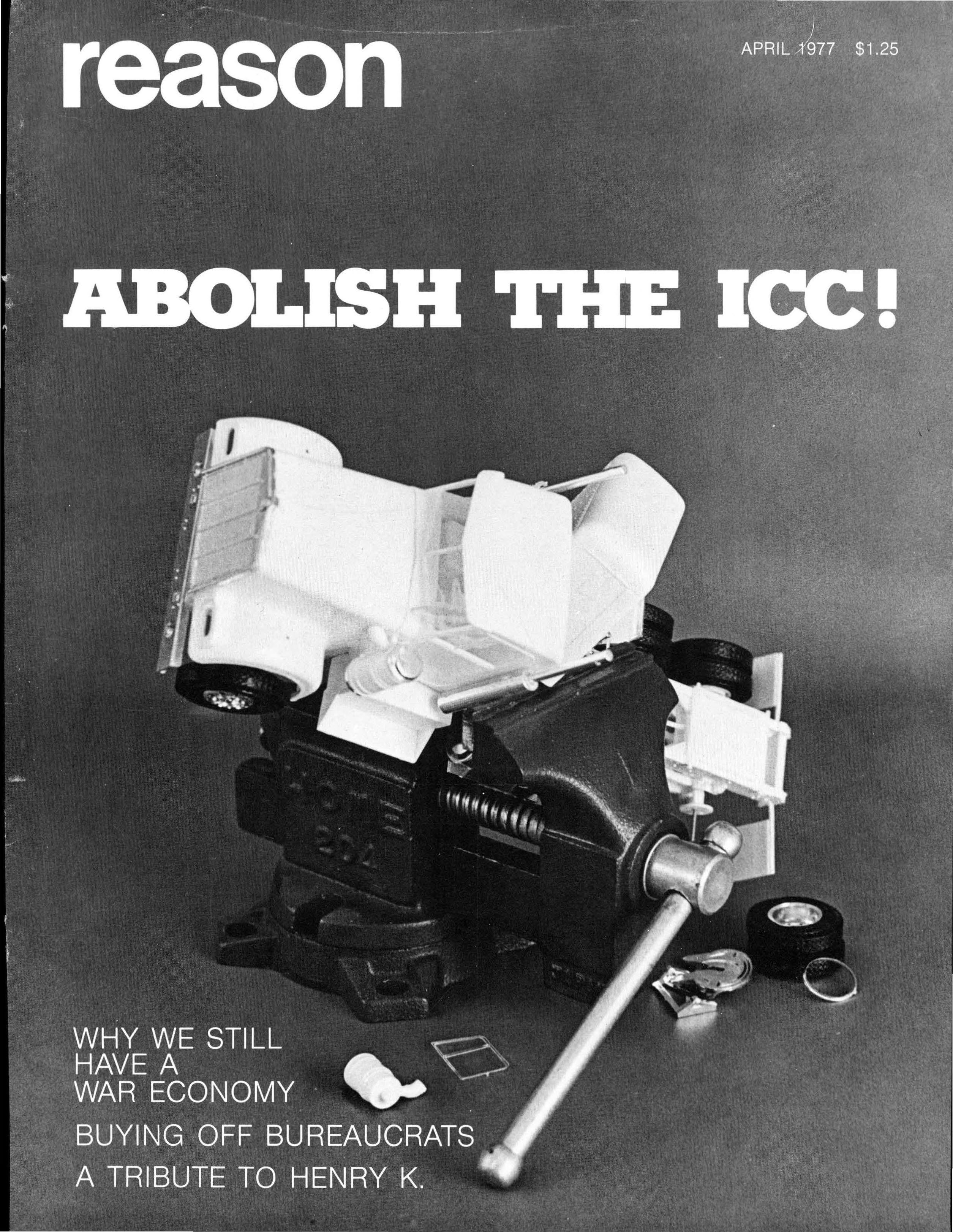Reason Magazine, April 1977 cover image