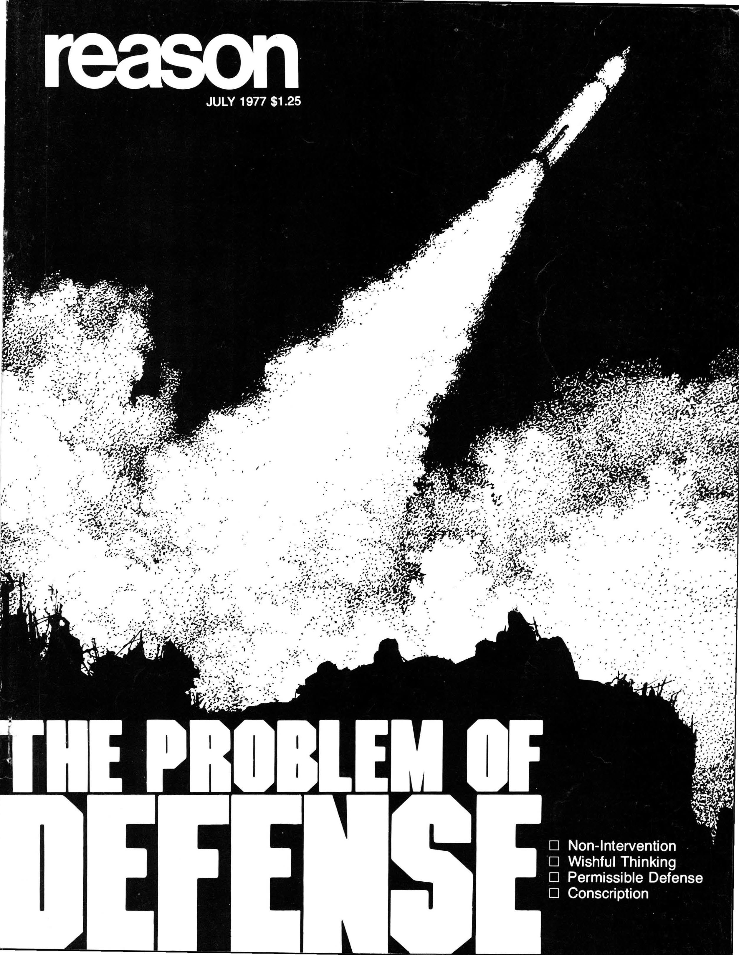 Reason Magazine, July 1977 cover image