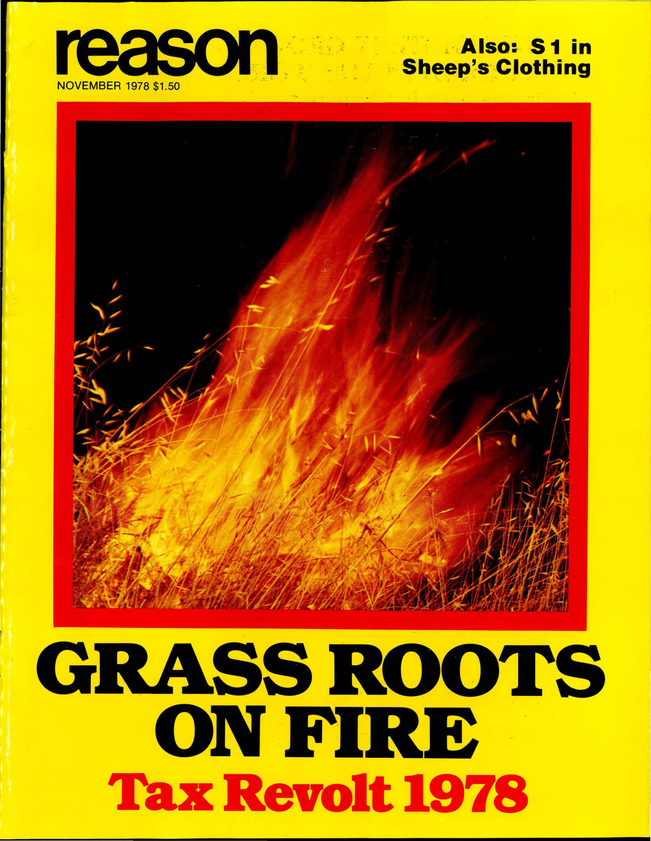 Reason Magazine, November 1978 cover image
