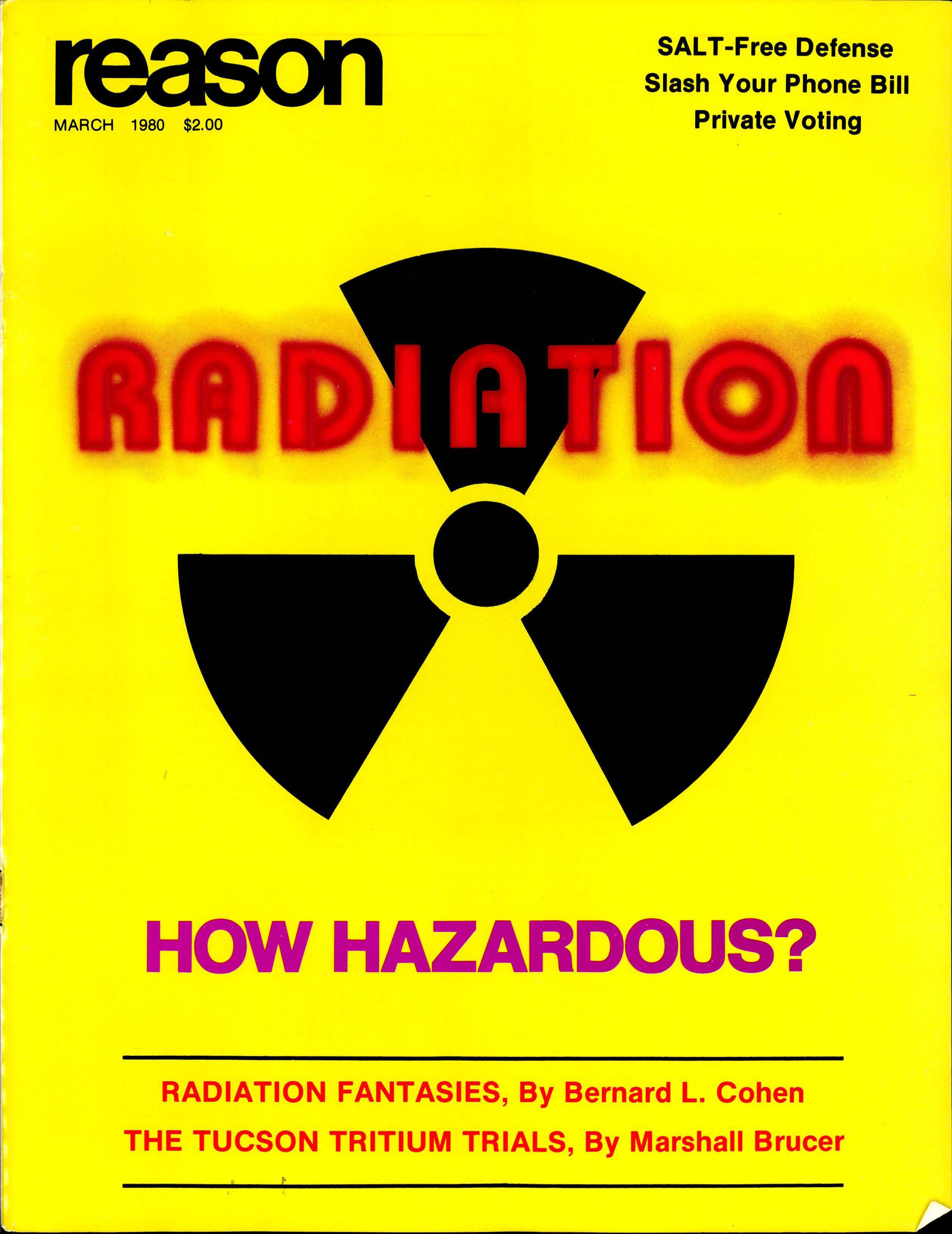 Reason Magazine, March 1980 cover image