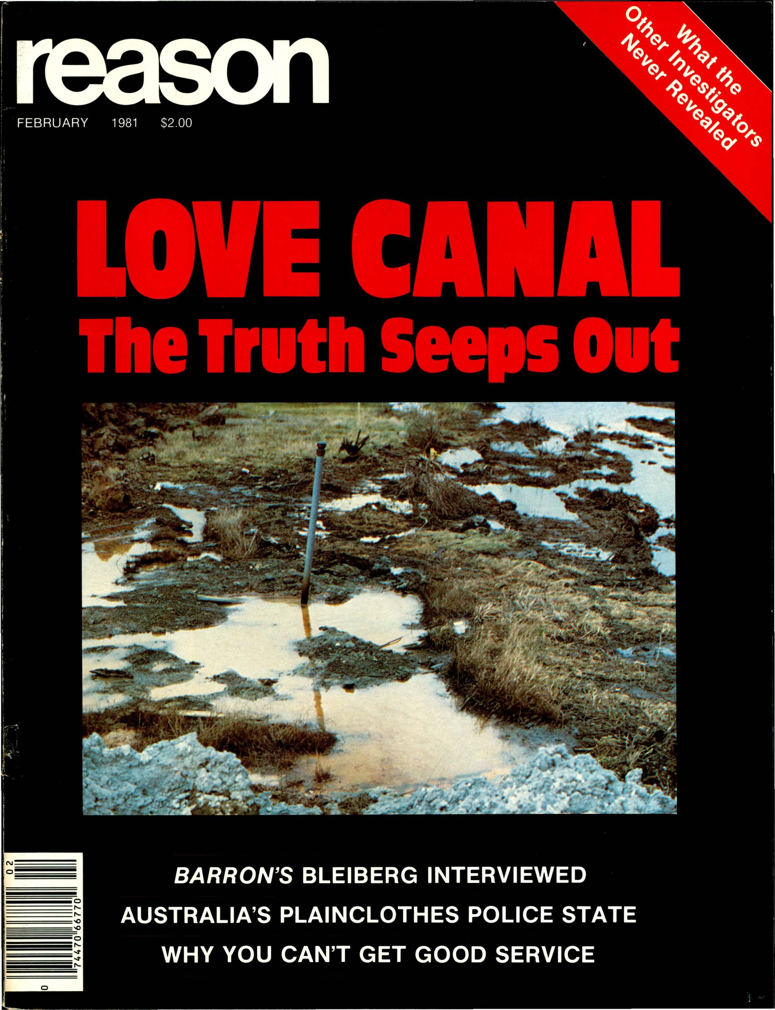 Reason Magazine, February 1981 cover image