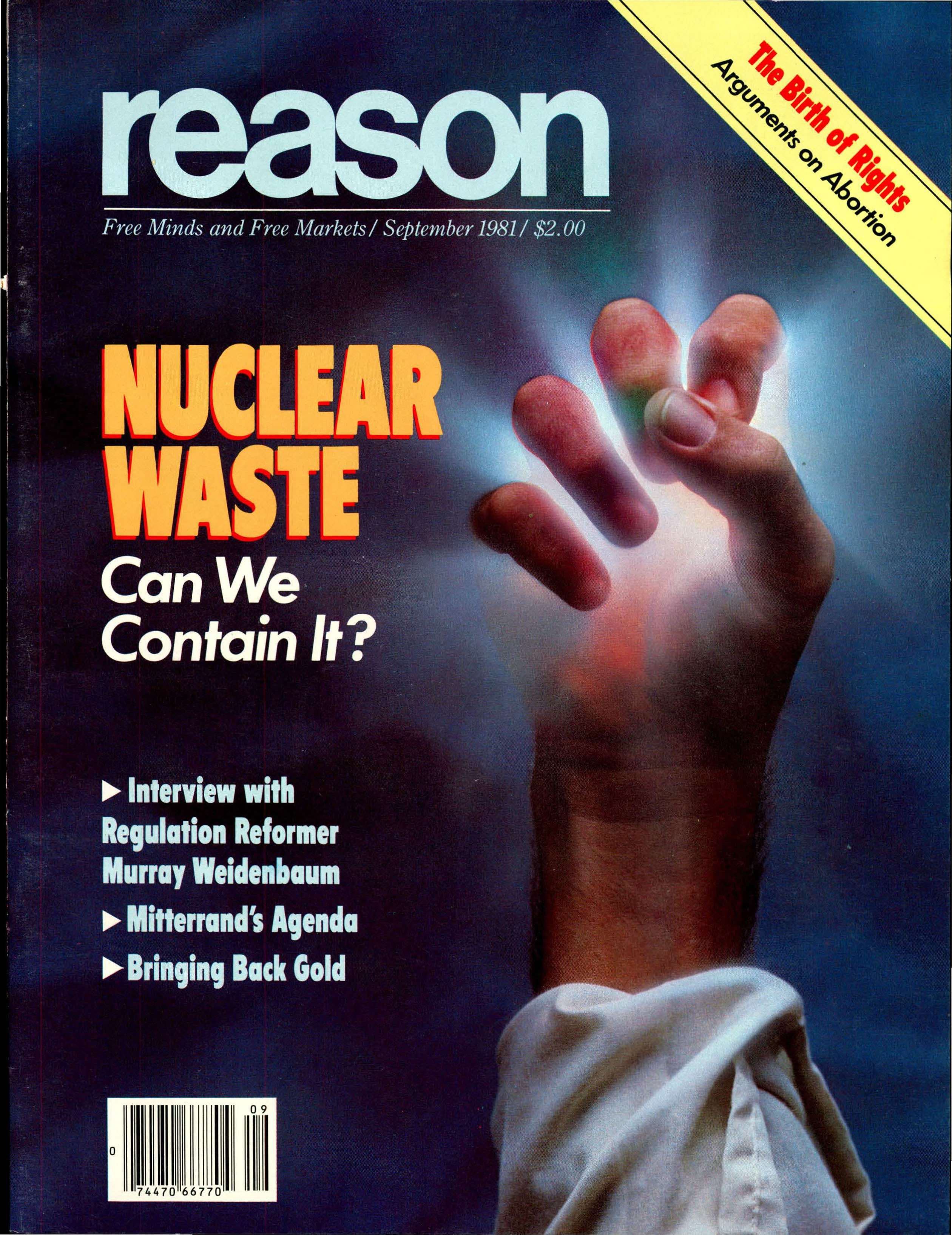 Reason Magazine, September 1981 cover image