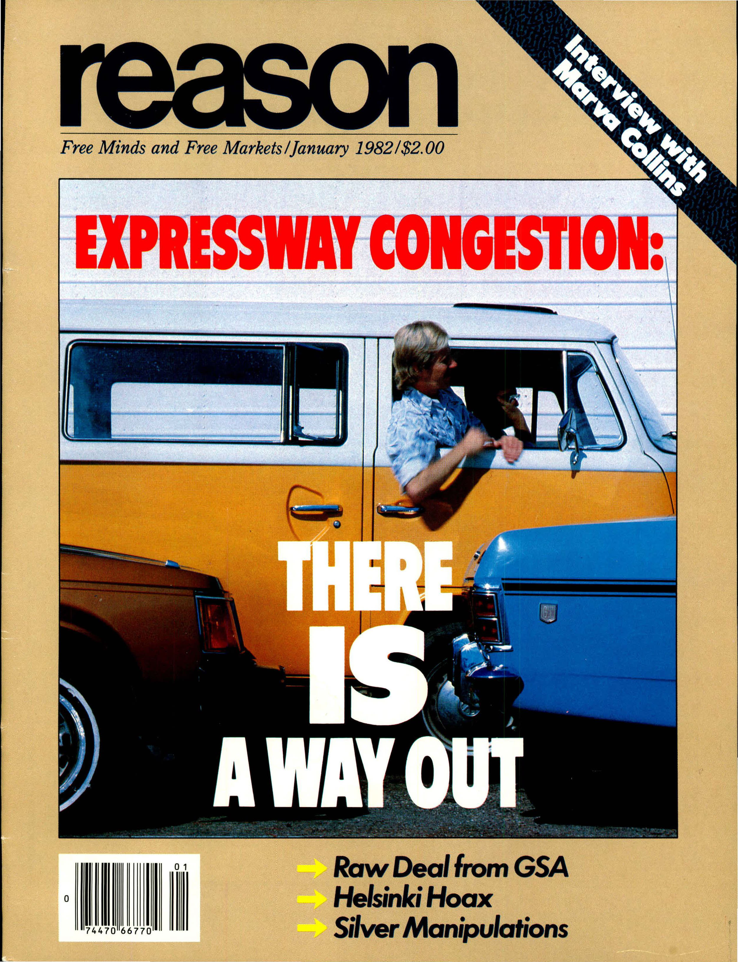 Reason Magazine, January 1982 cover image