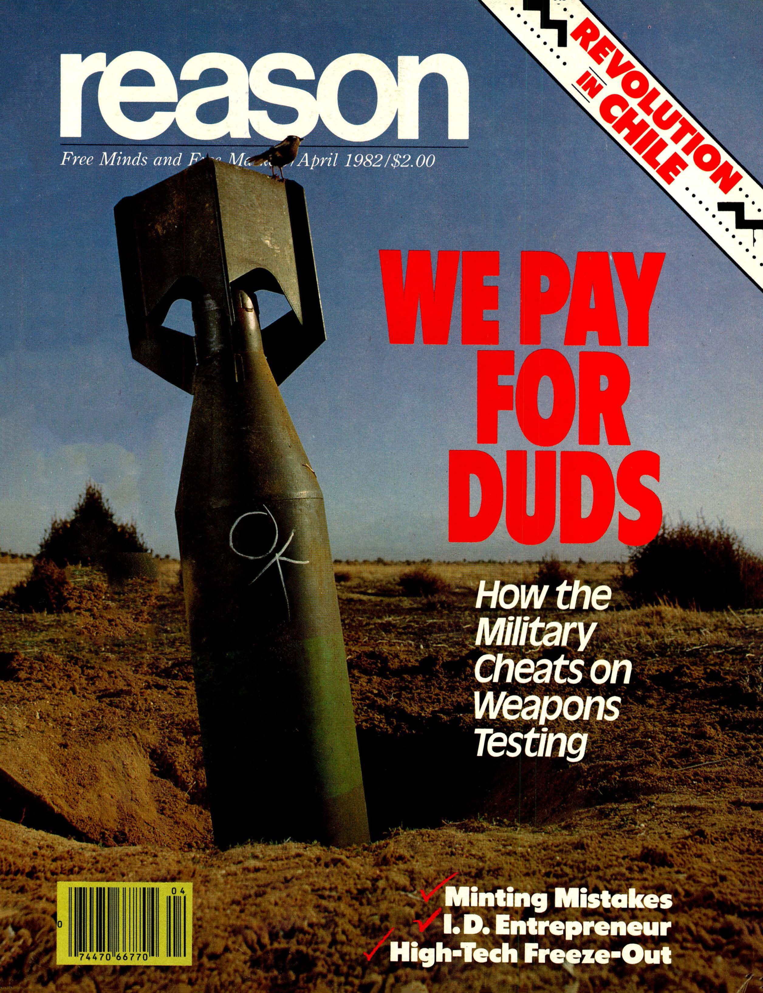 Reason Magazine, April 1982 cover image