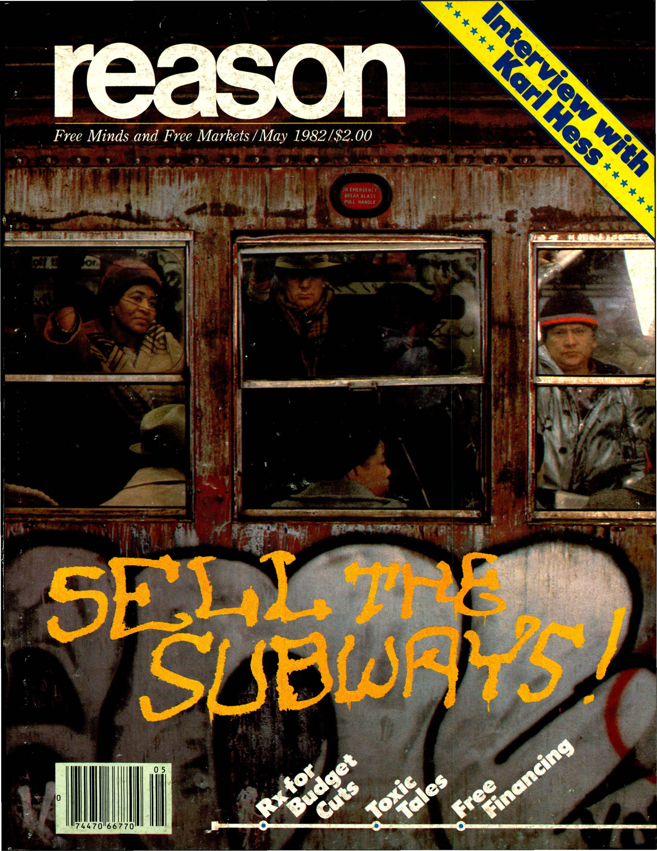 Reason Magazine, May 1982 cover image