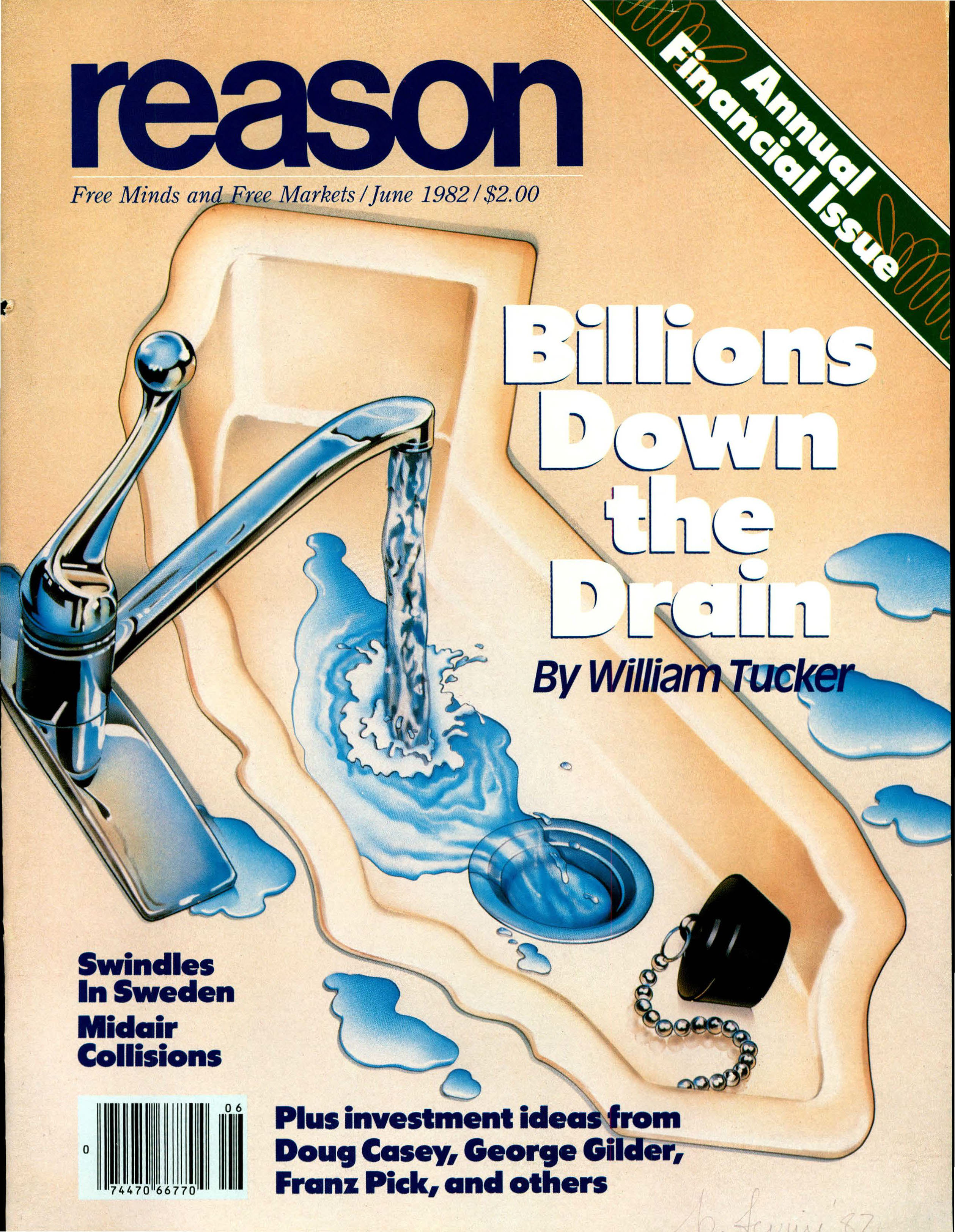 Reason Magazine, June 1982 cover image