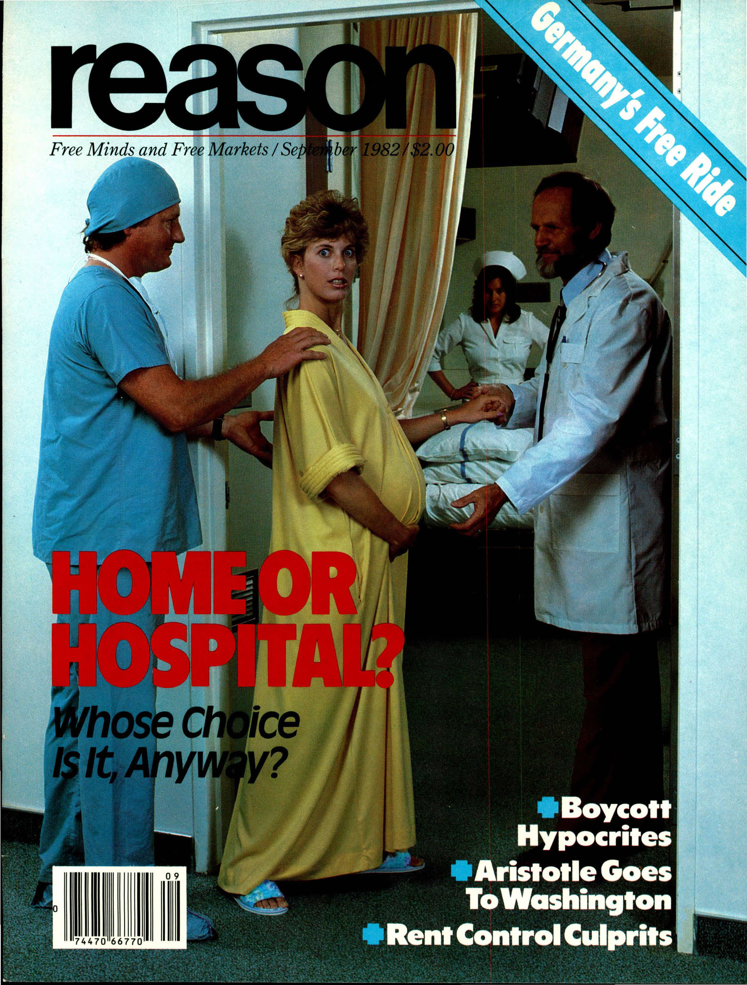 Reason Magazine, September 1982 cover image