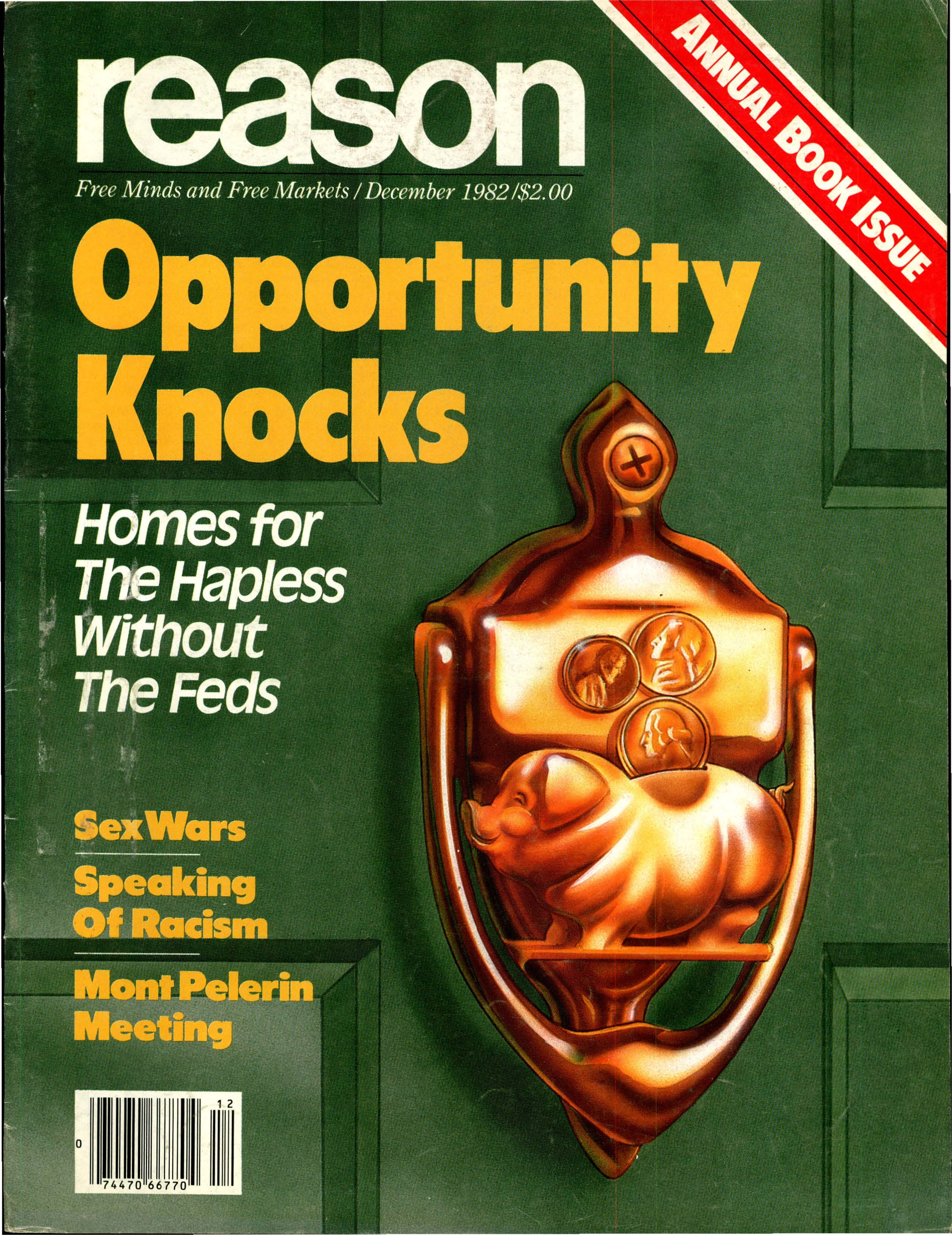 Reason Magazine, December 1982 cover image