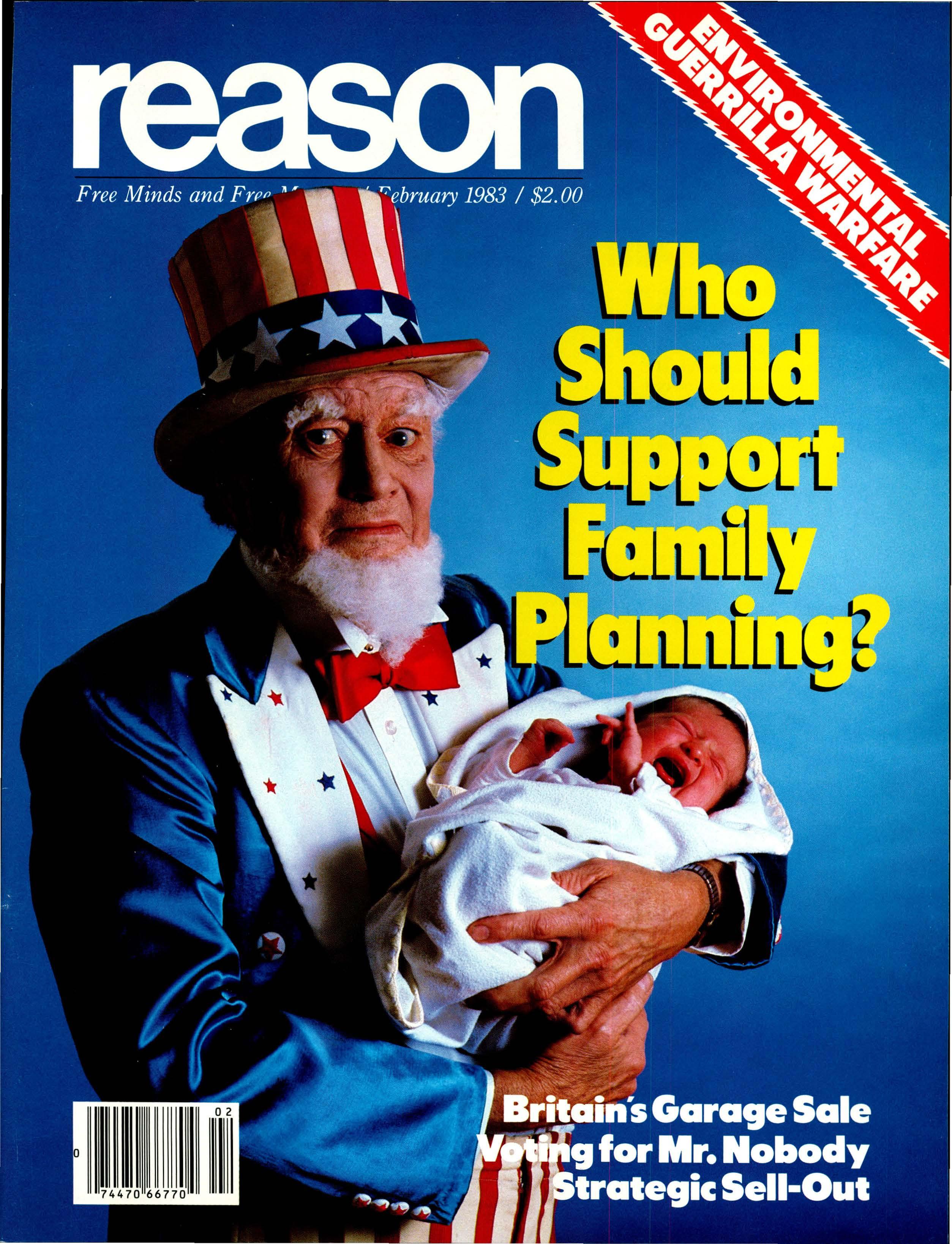 Reason Magazine, February 1983 cover image