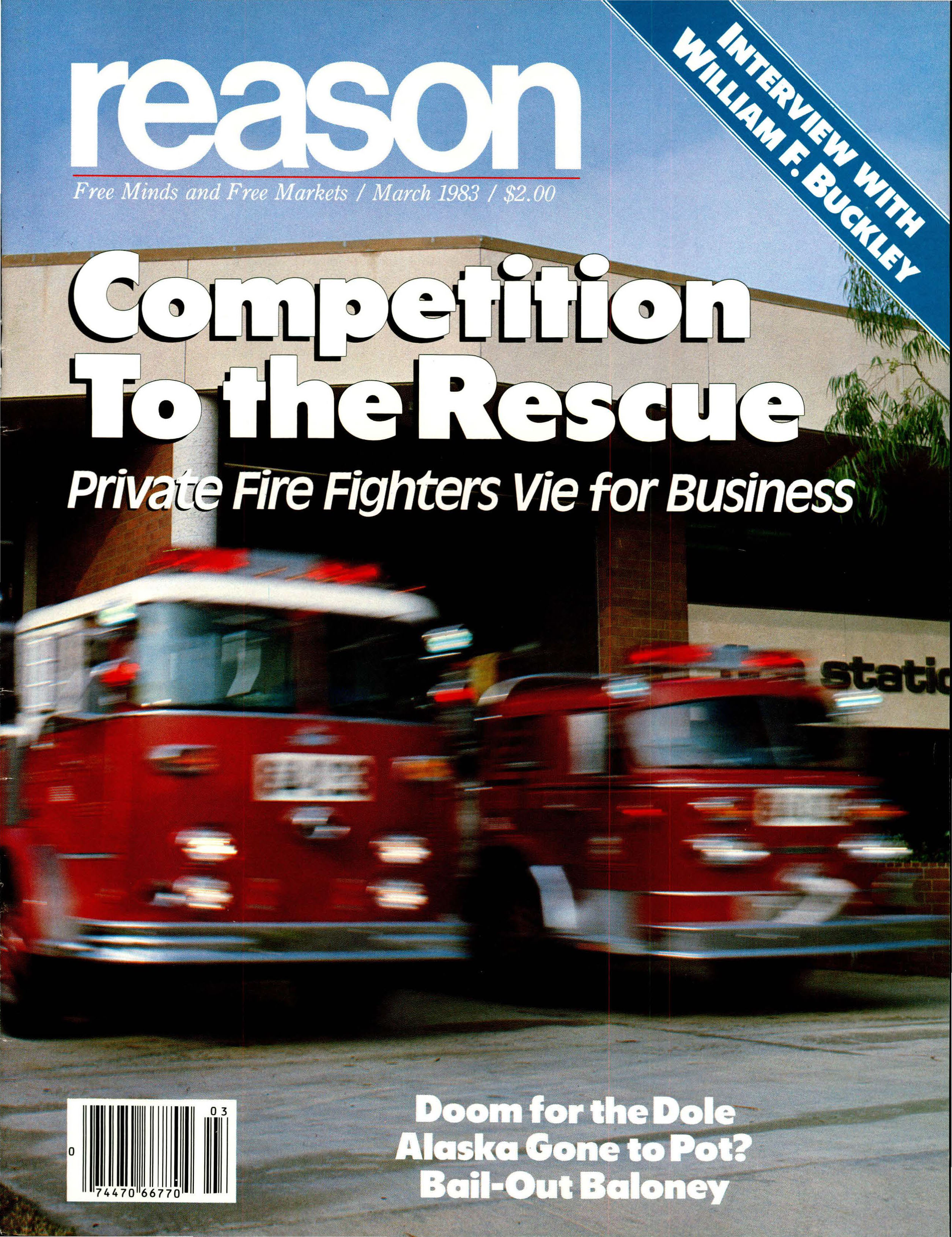 Reason Magazine, March 1983 cover image