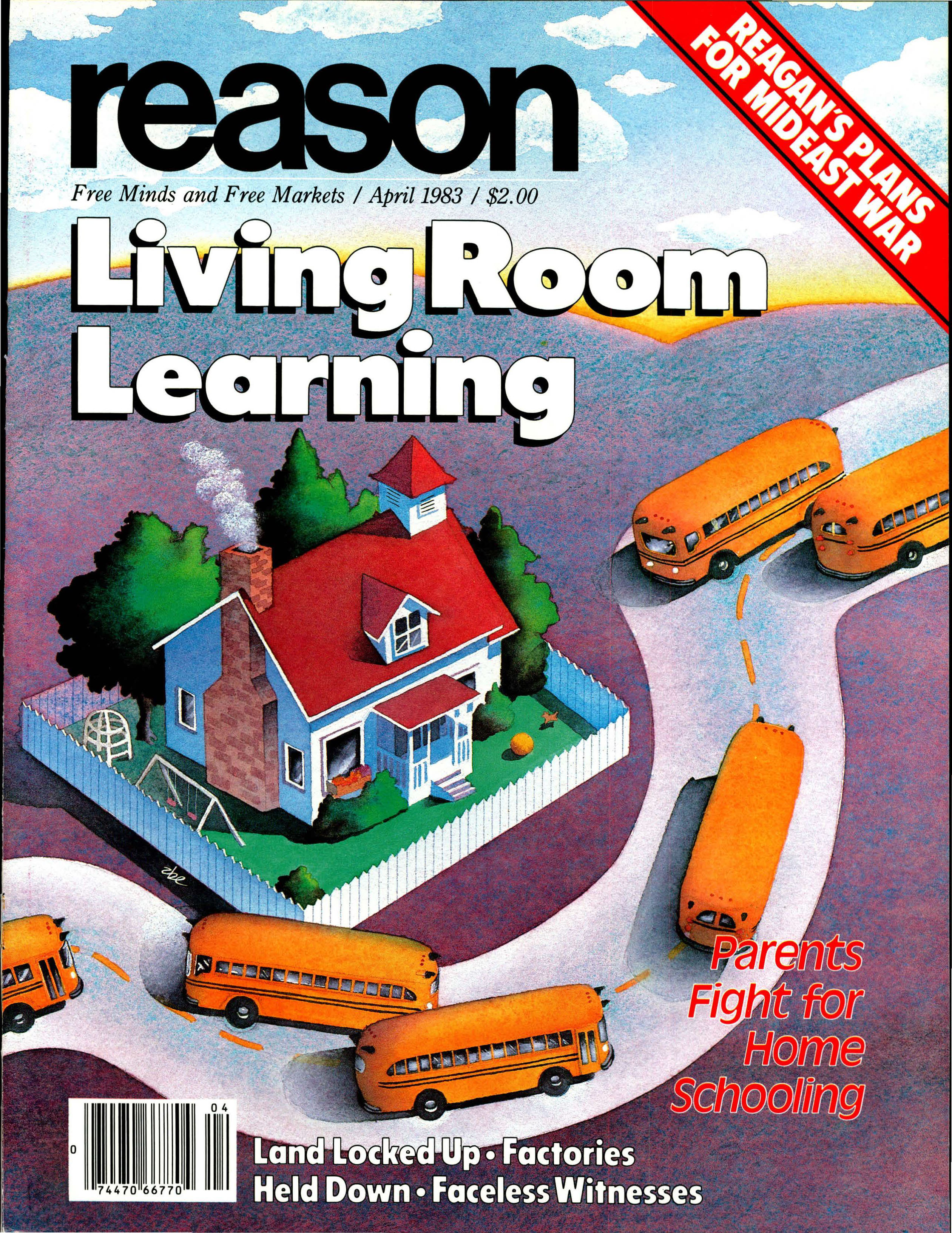 Reason Magazine, April 1983 cover image