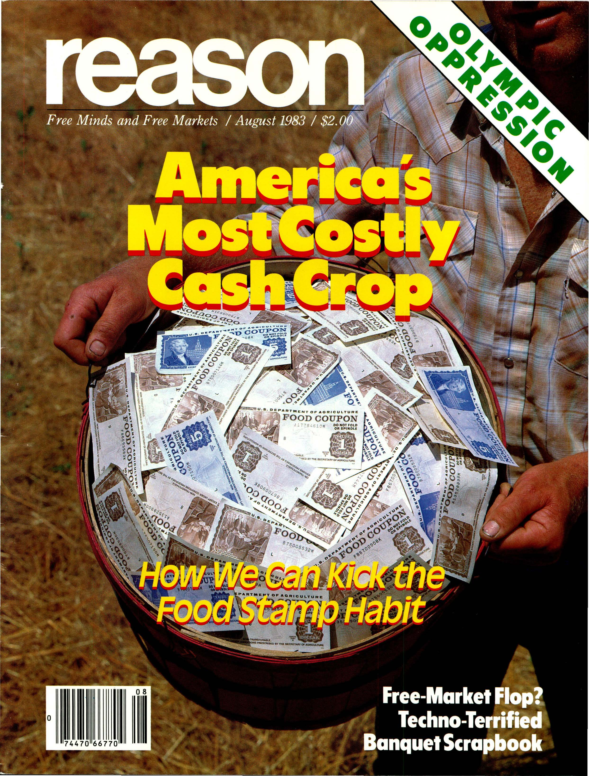 Reason Magazine, August 1983 cover image
