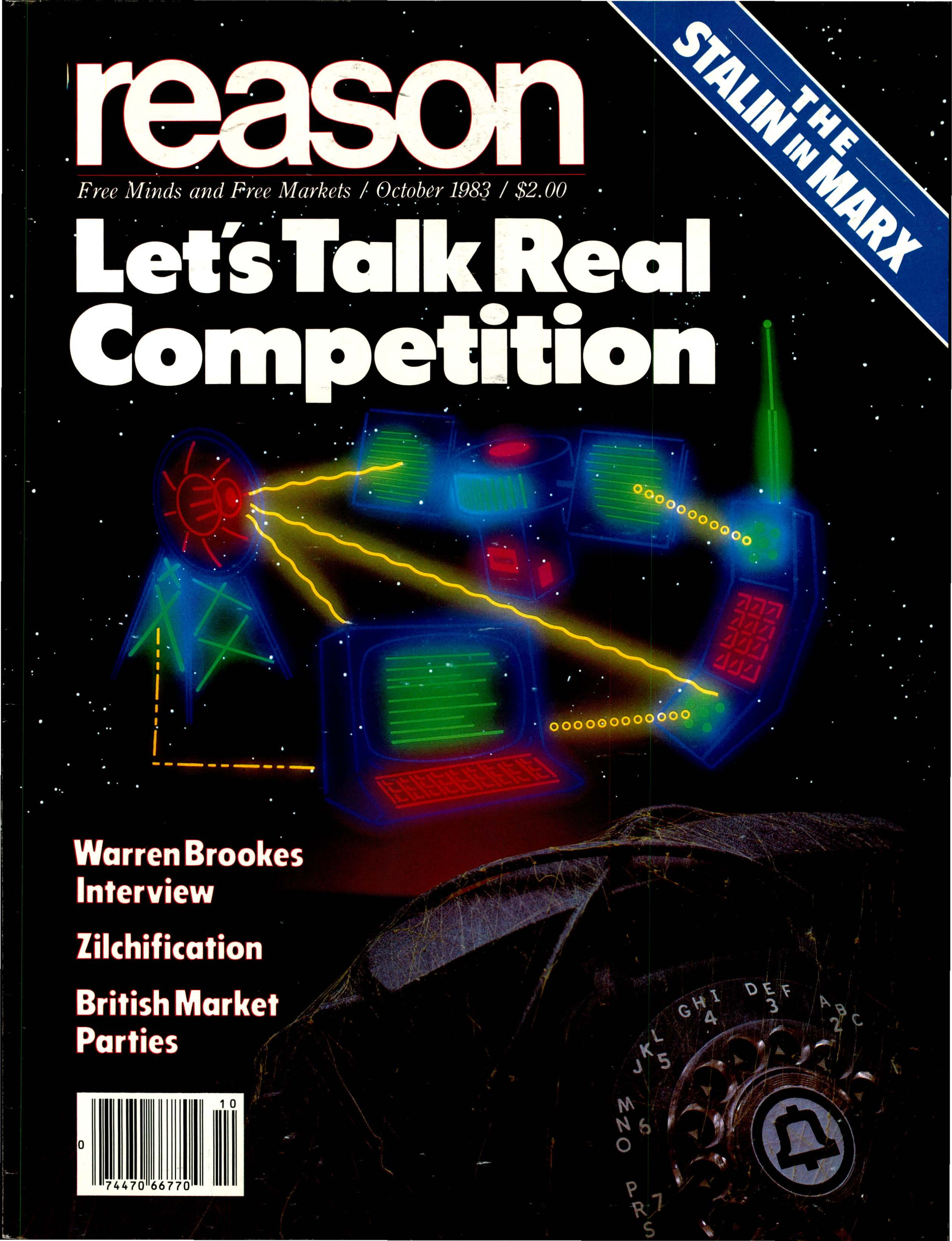 Reason Magazine, October 1983 cover image
