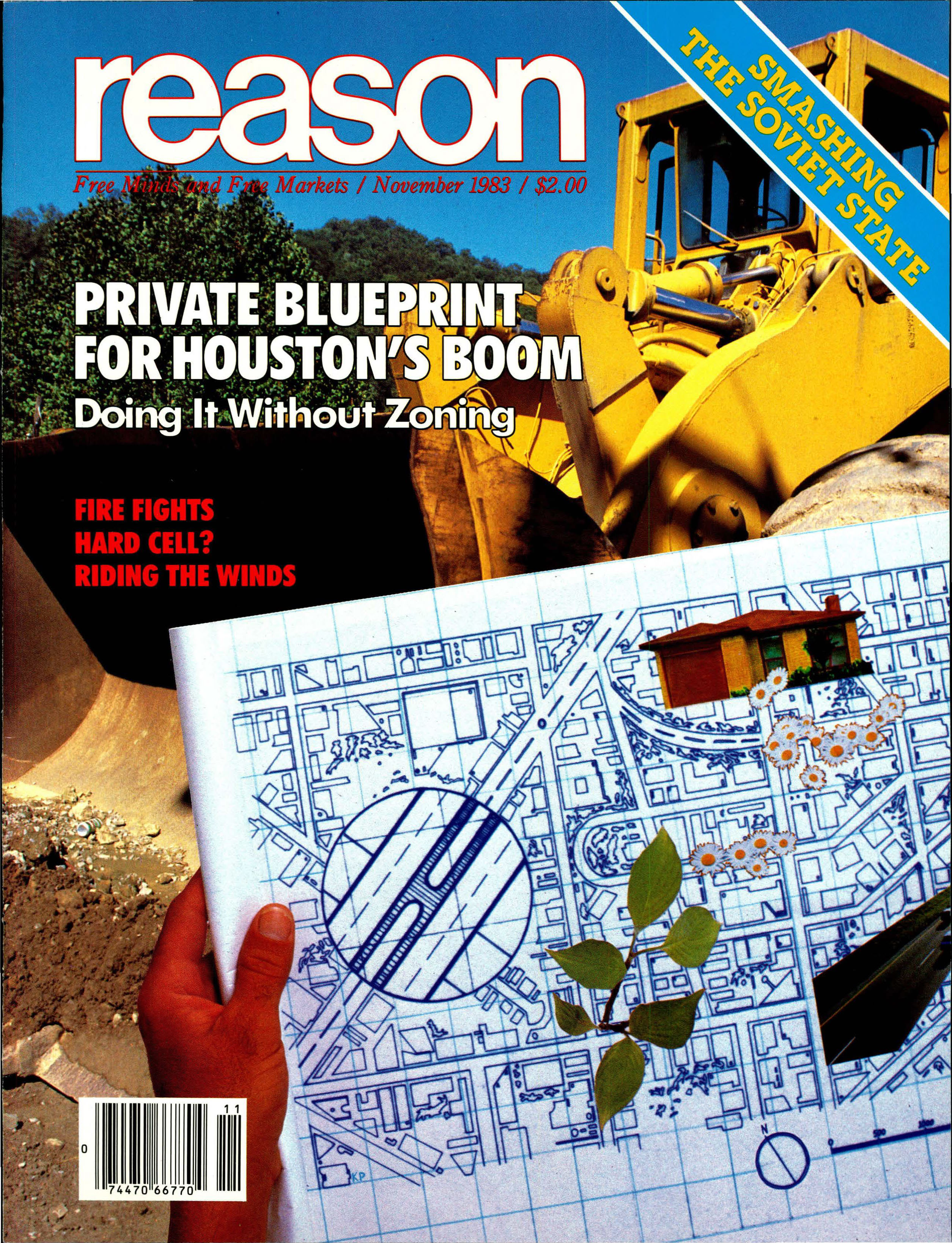Reason Magazine, November 1983 cover image