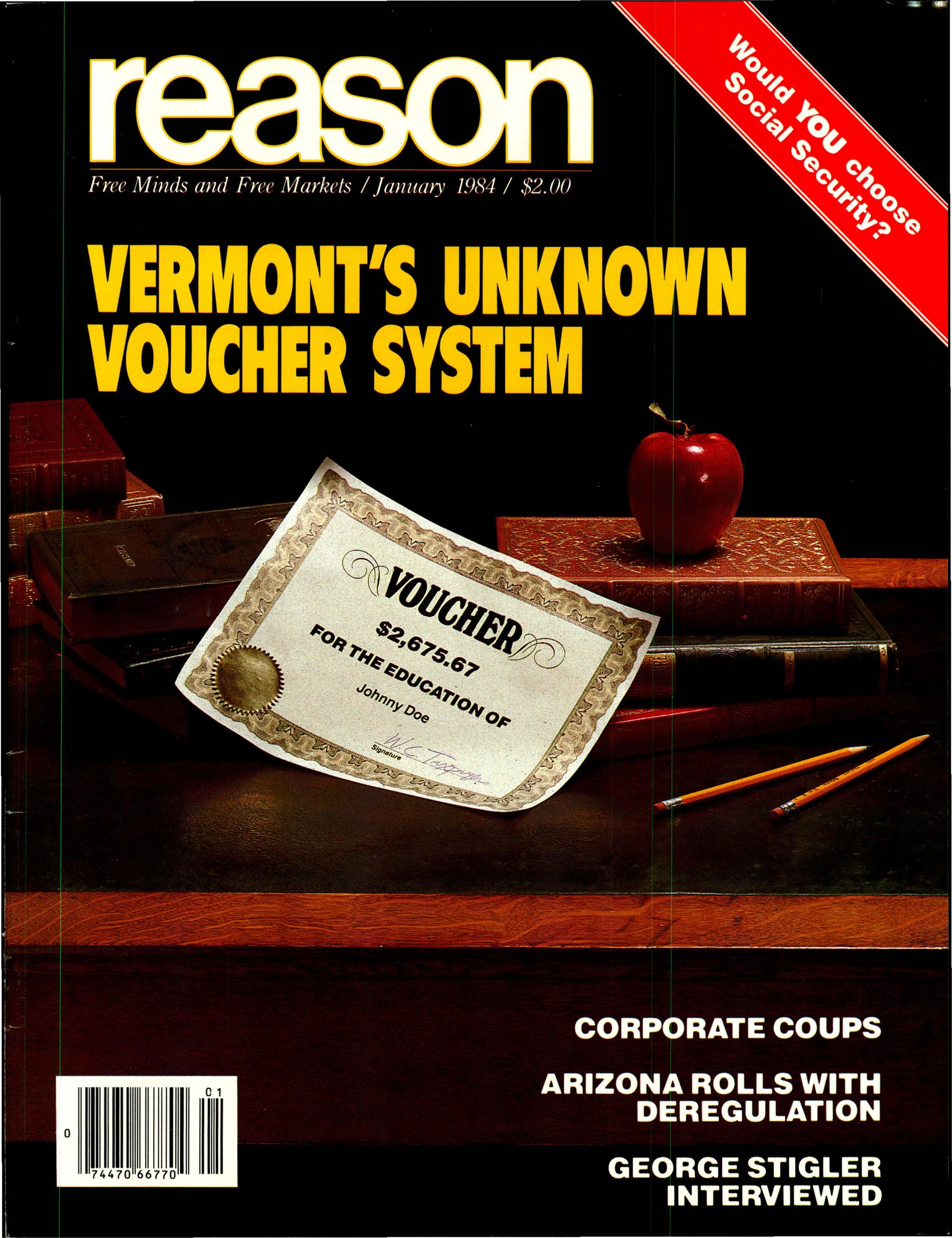 Reason Magazine, January 1984 cover image