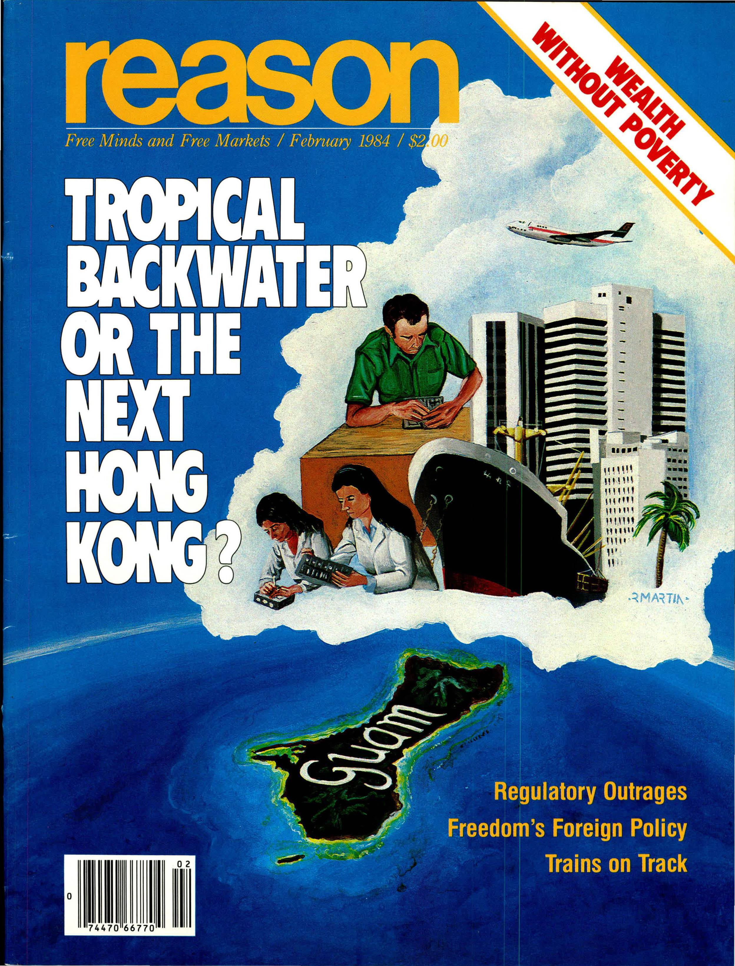 Reason Magazine, February 1984 cover image