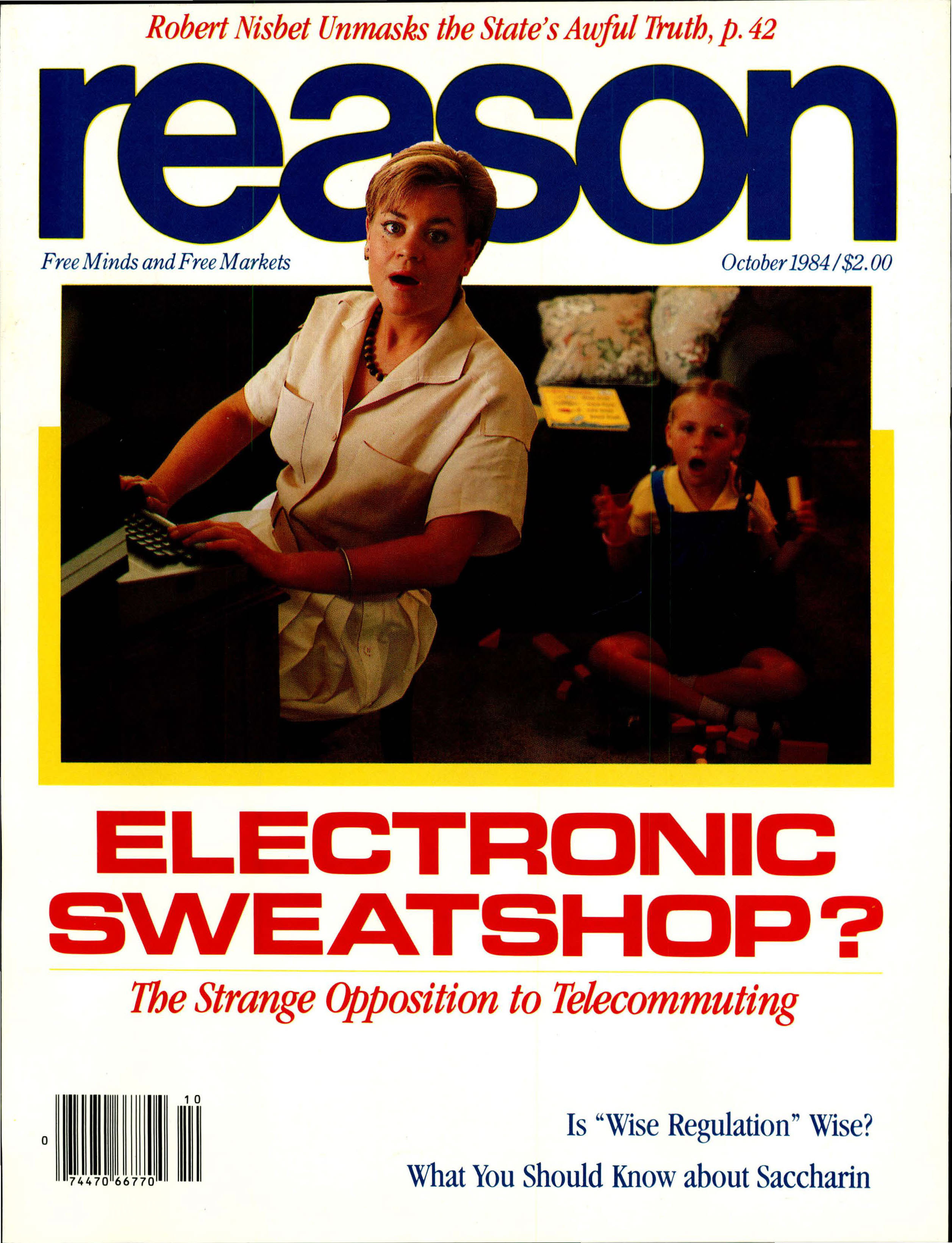 Reason Magazine, October 1984 cover image