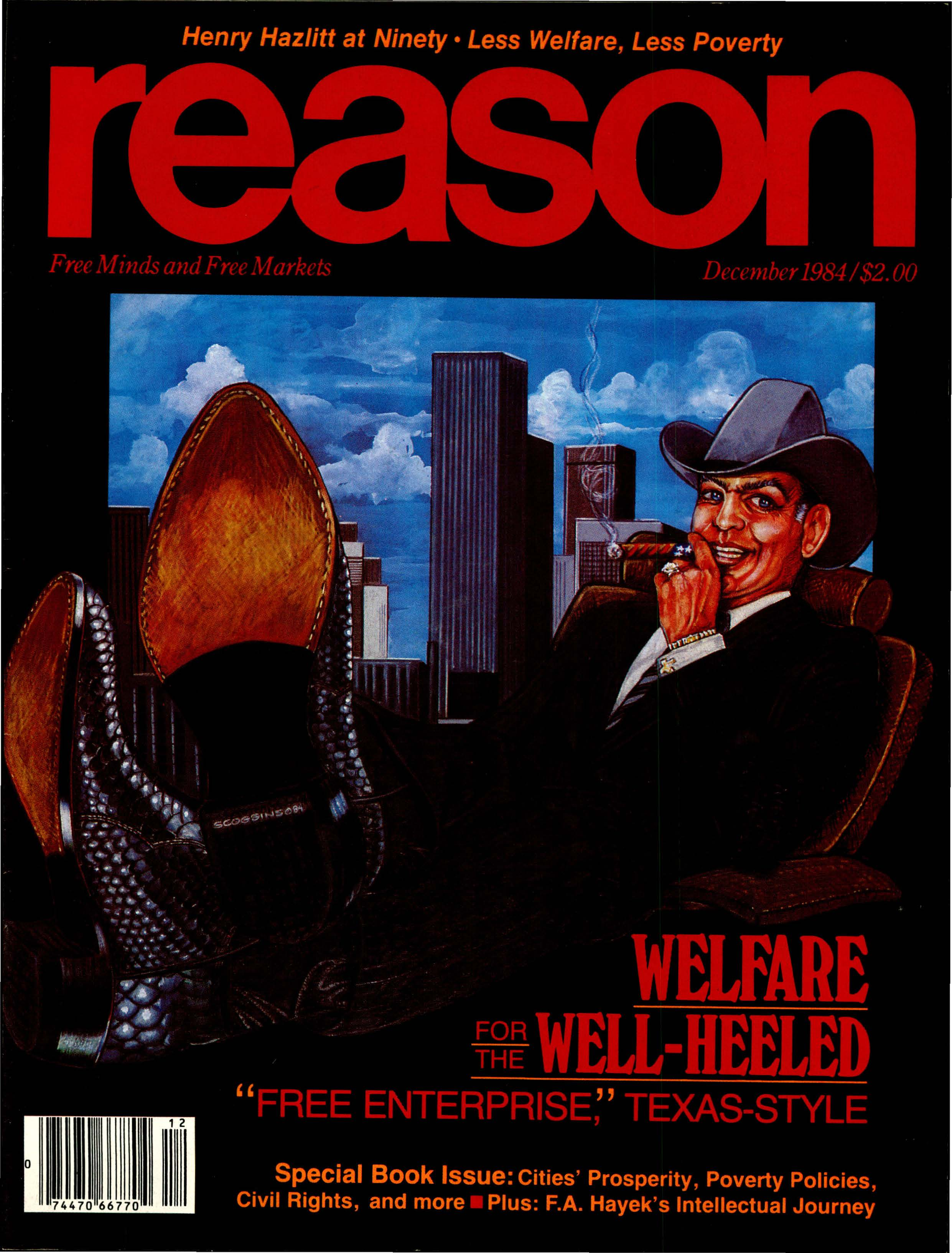 Reason Magazine, December 1984 cover image