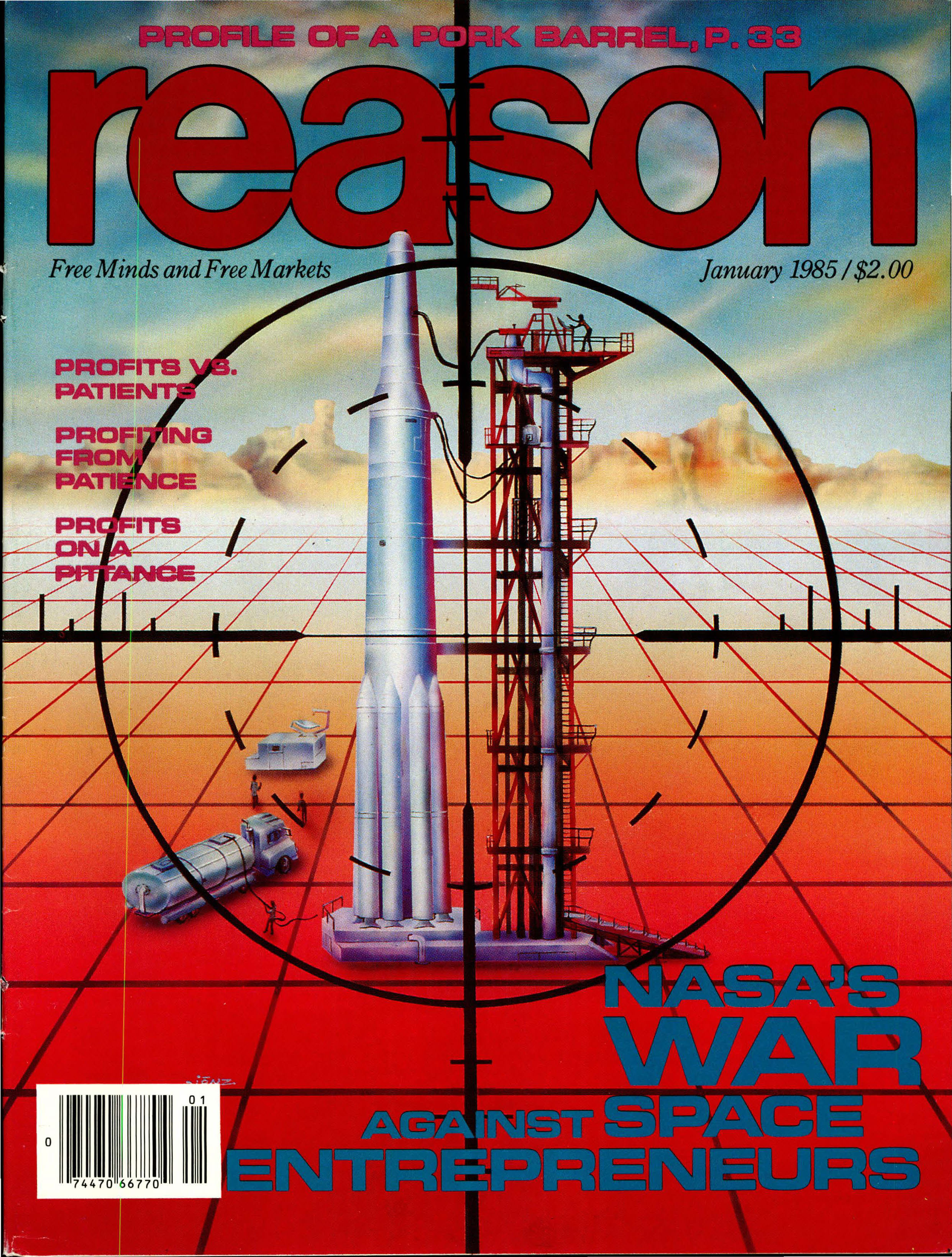 Reason Magazine, January 1985 cover image
