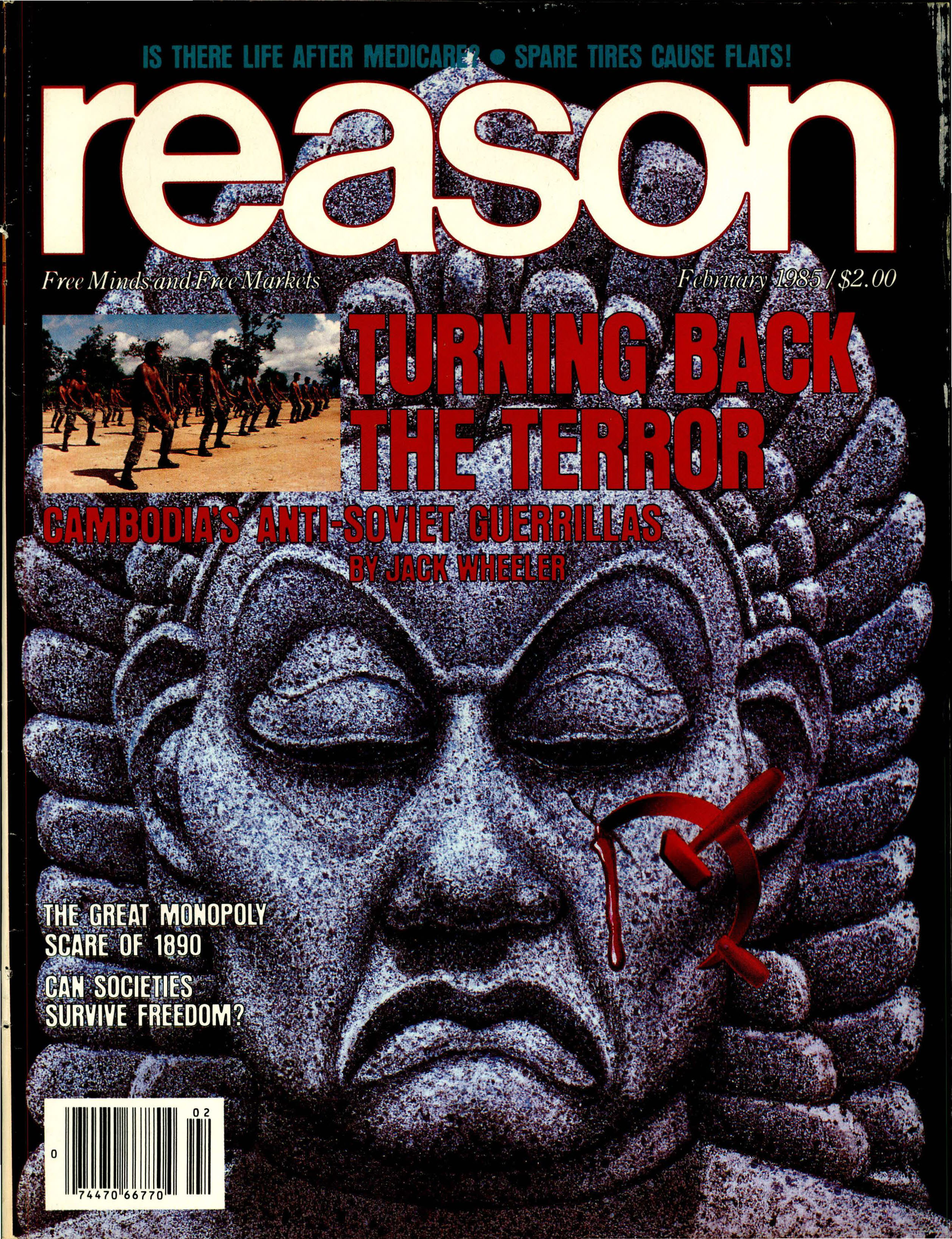 Reason Magazine, February 1985 cover image