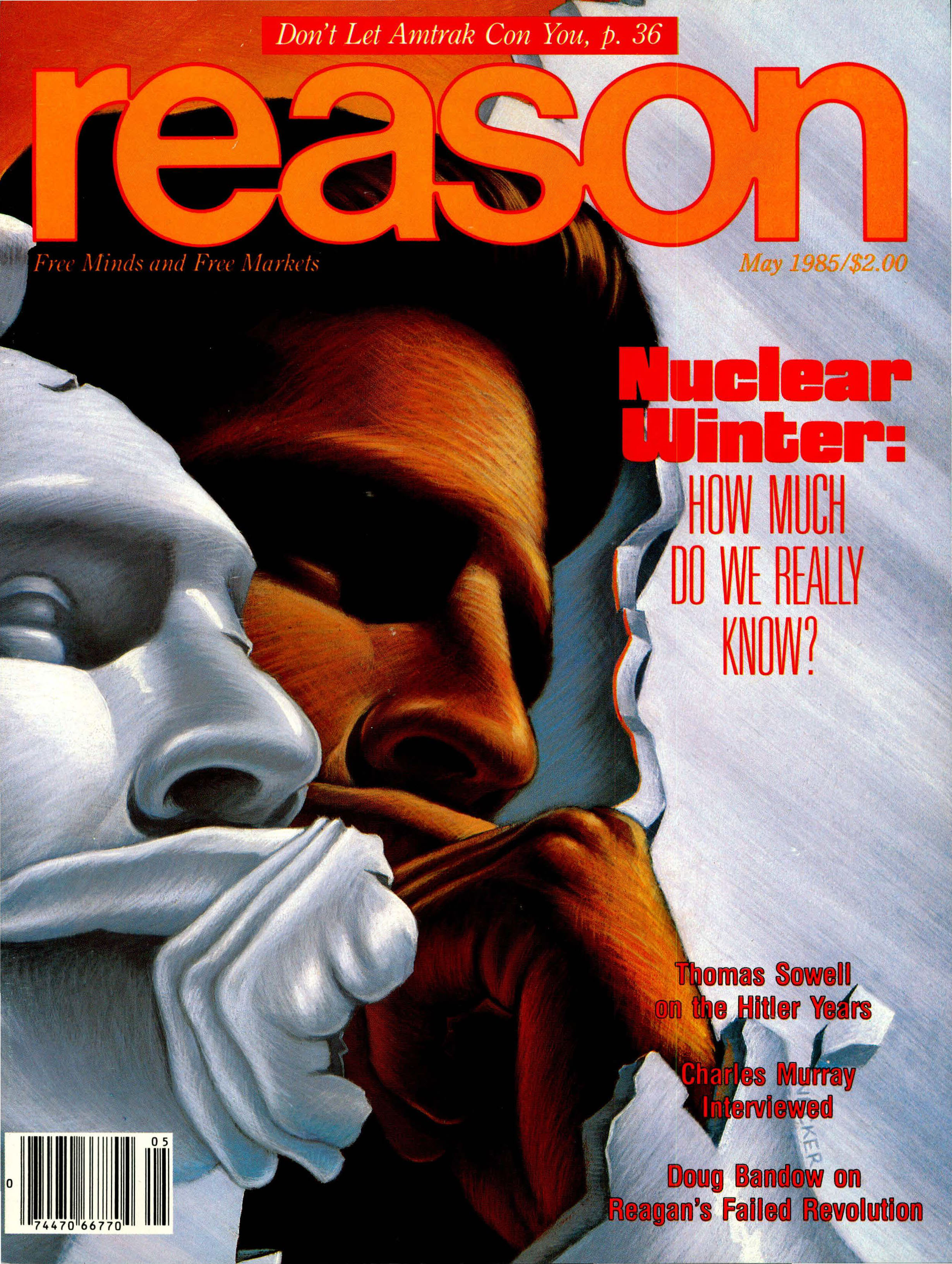 Reason Magazine, May 1985 cover image