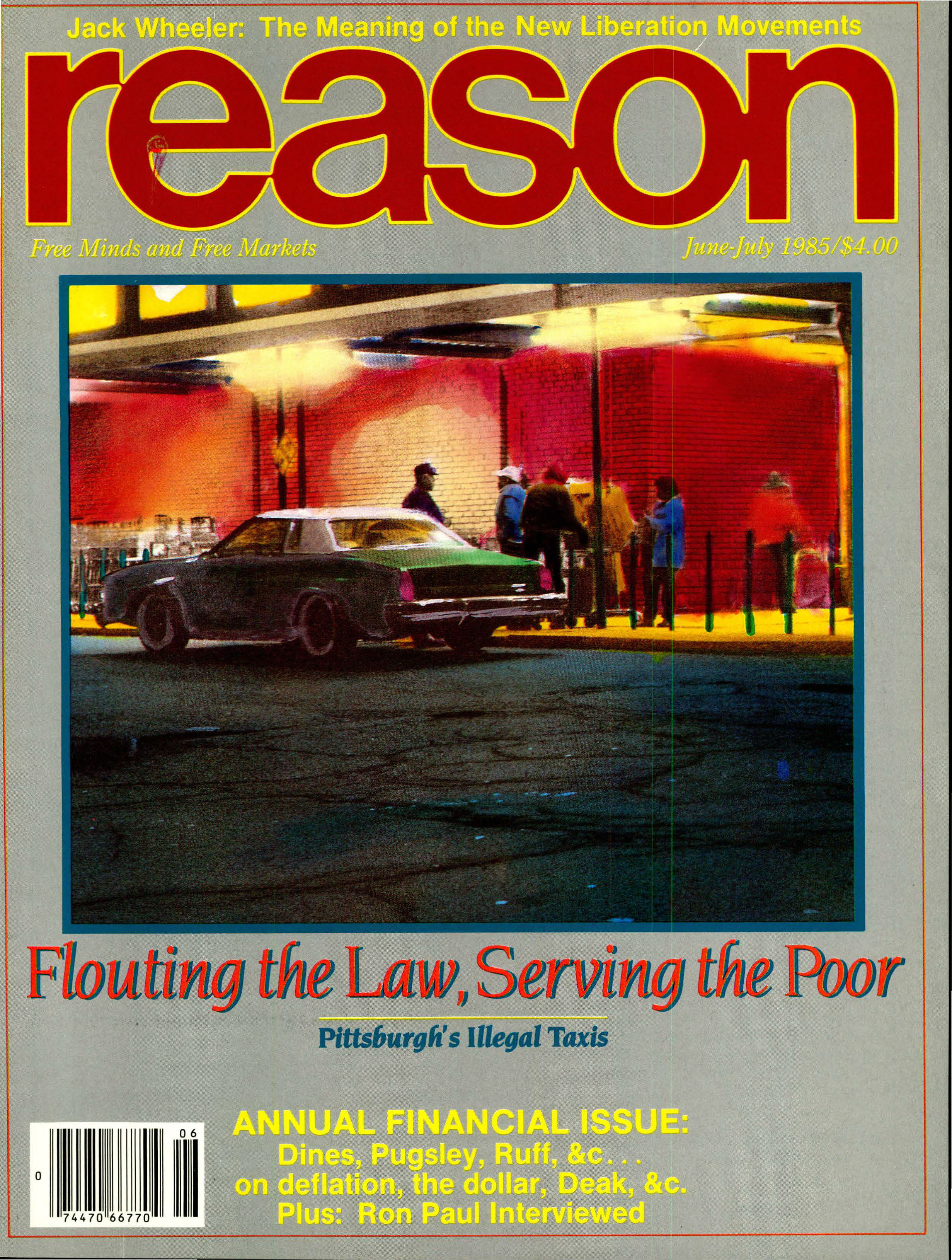 Reason Magazine, June/July 1985 cover image
