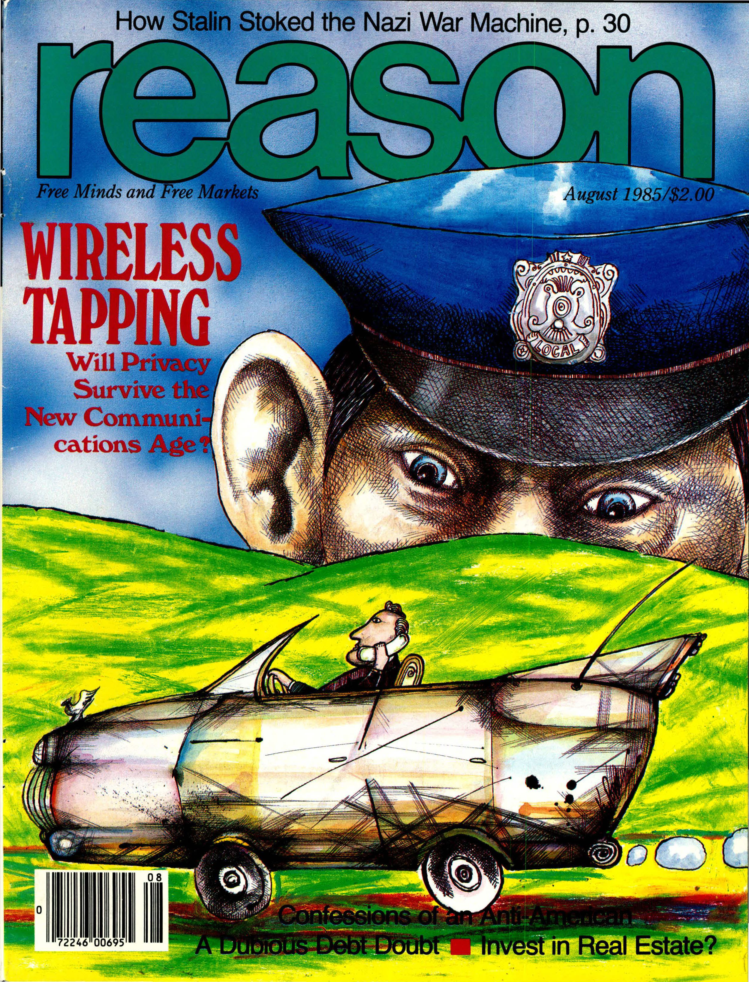 Reason Magazine, August 1985 cover image