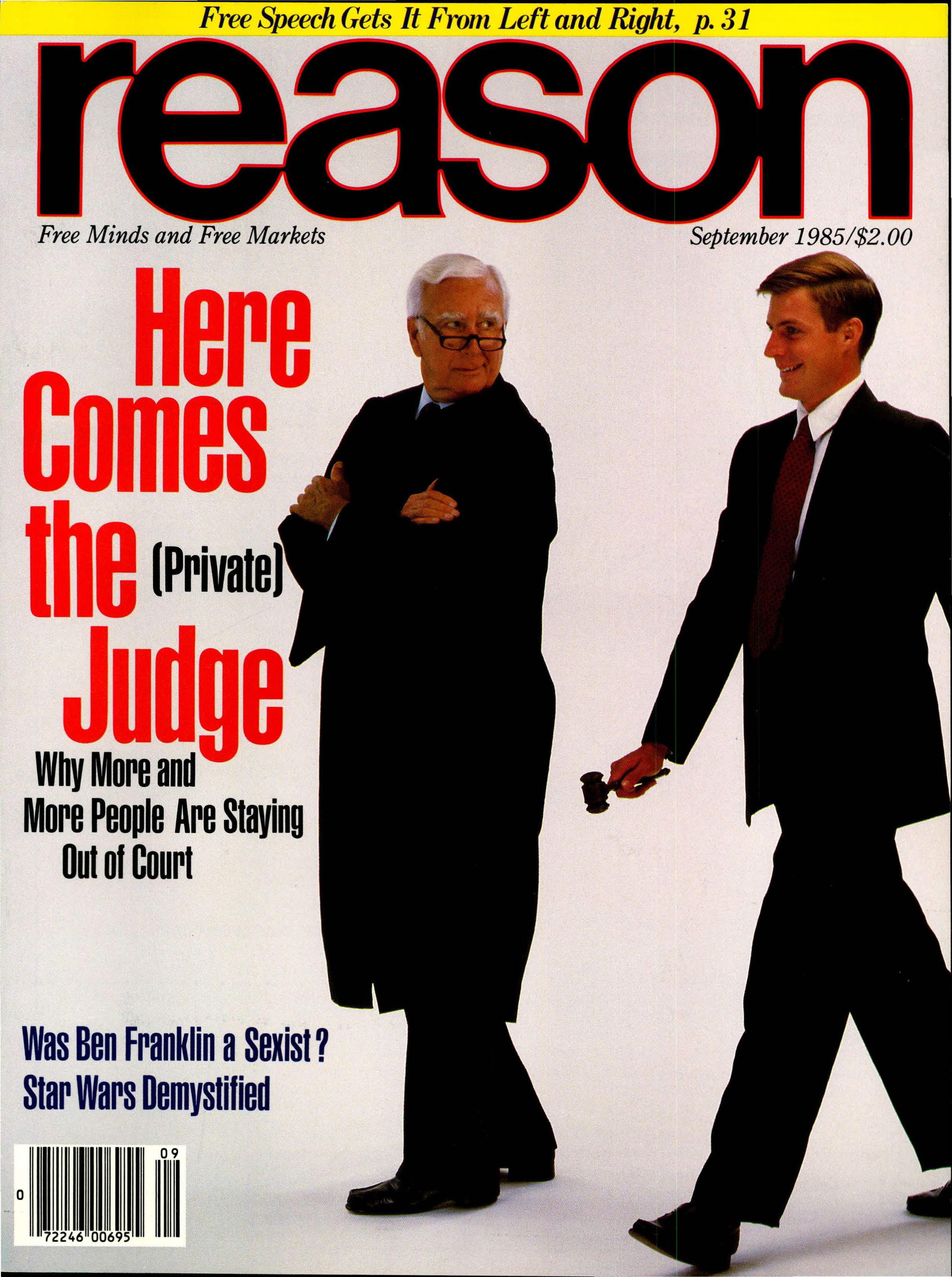 Reason Magazine, September 1985 cover image