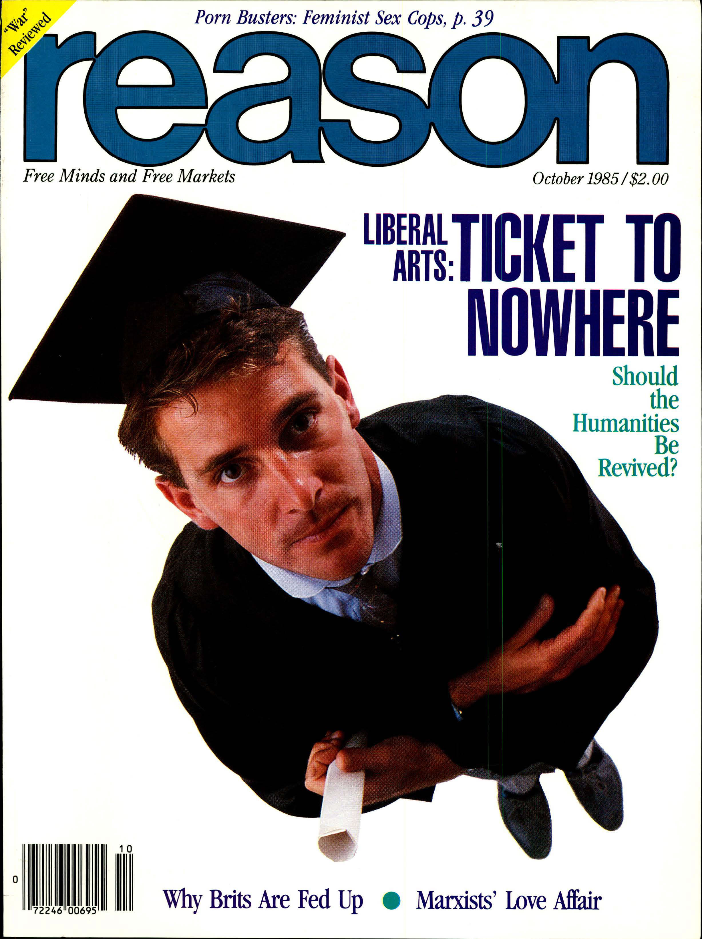 Reason Magazine, October 1985 cover image