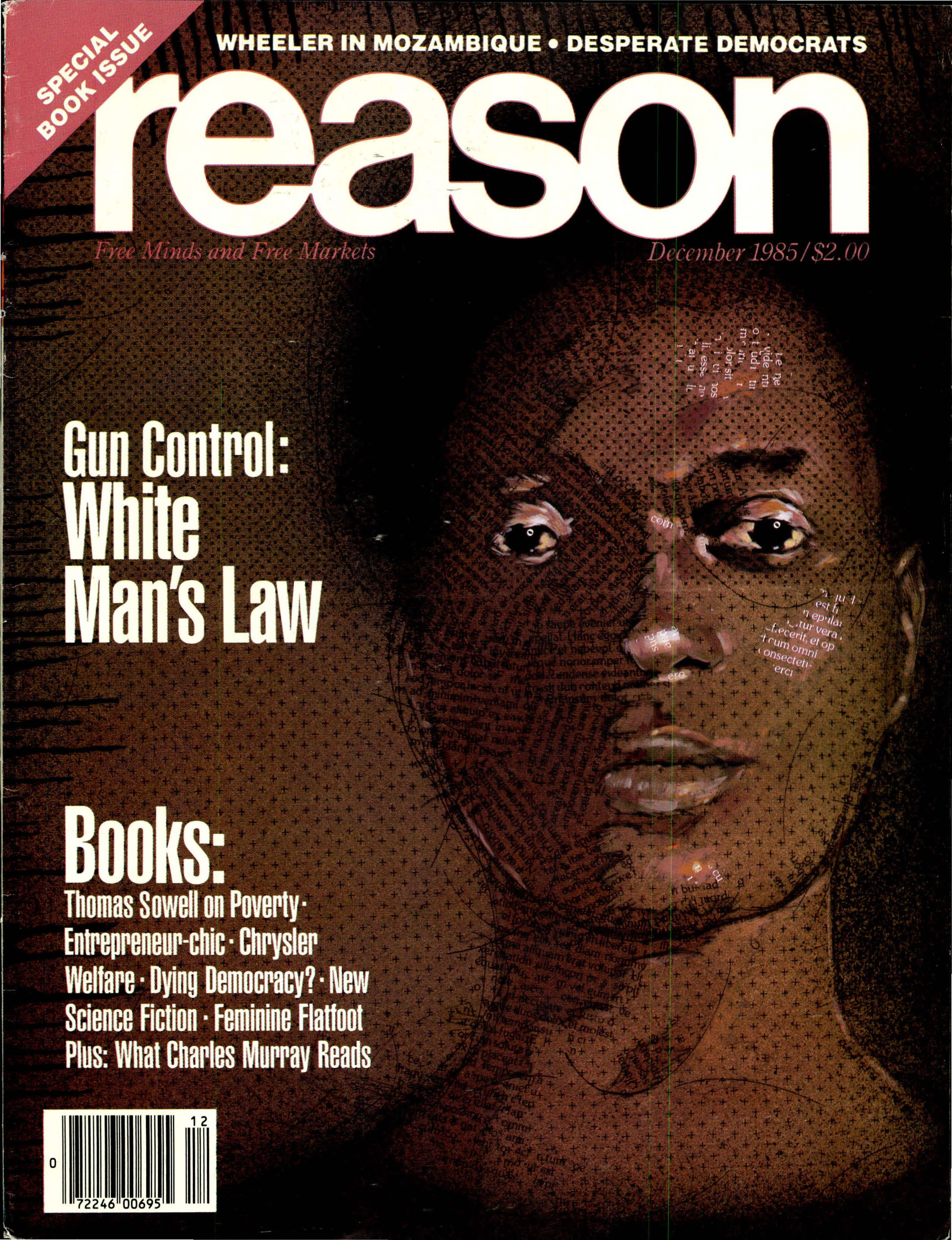 Reason Magazine, December 1985 cover image