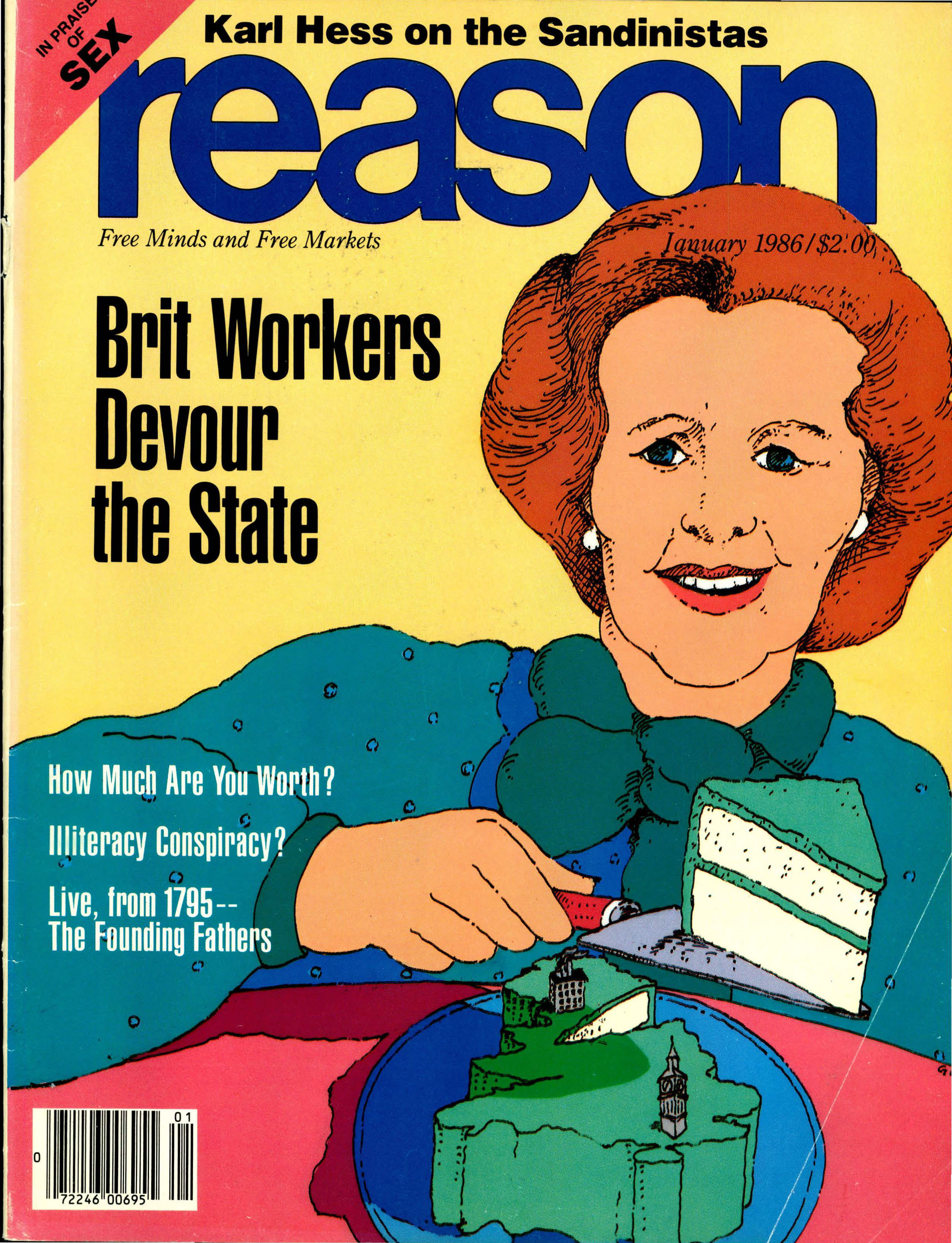 Reason Magazine, January 1986 cover image