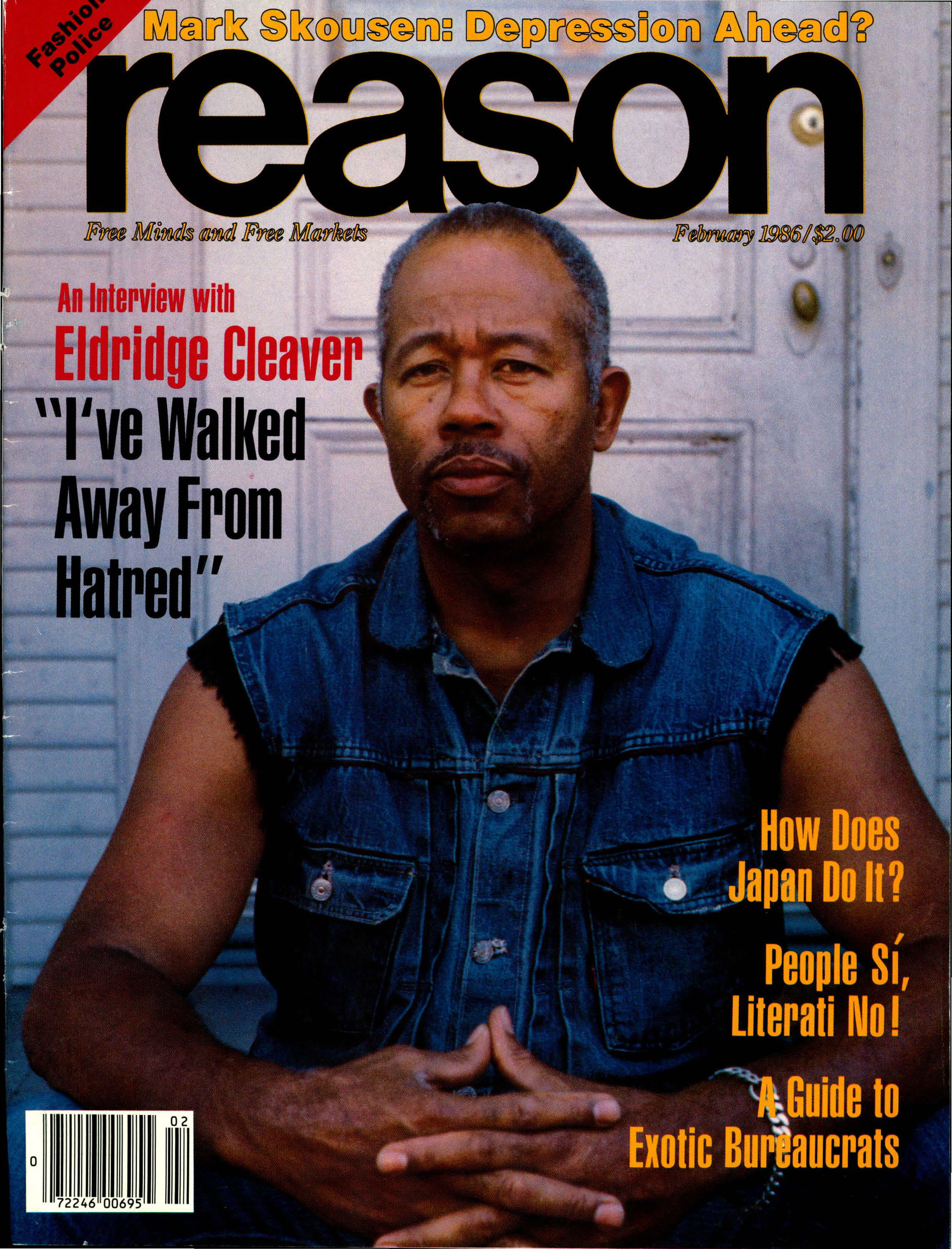 Reason Magazine, February 1986 cover image