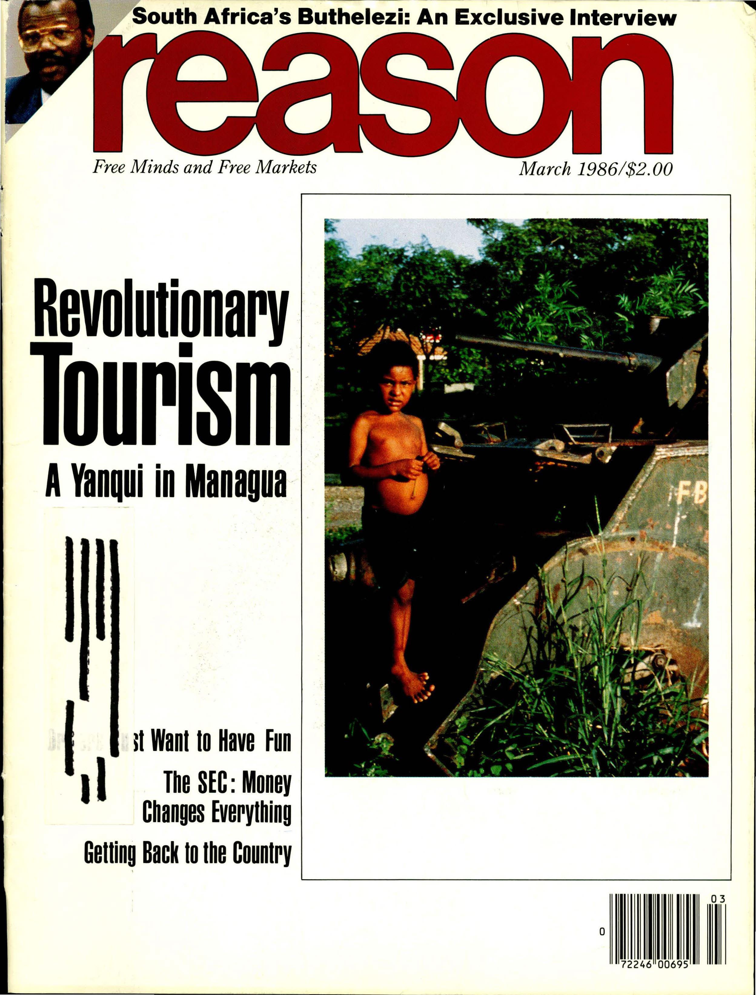Reason Magazine, March 1986 cover image