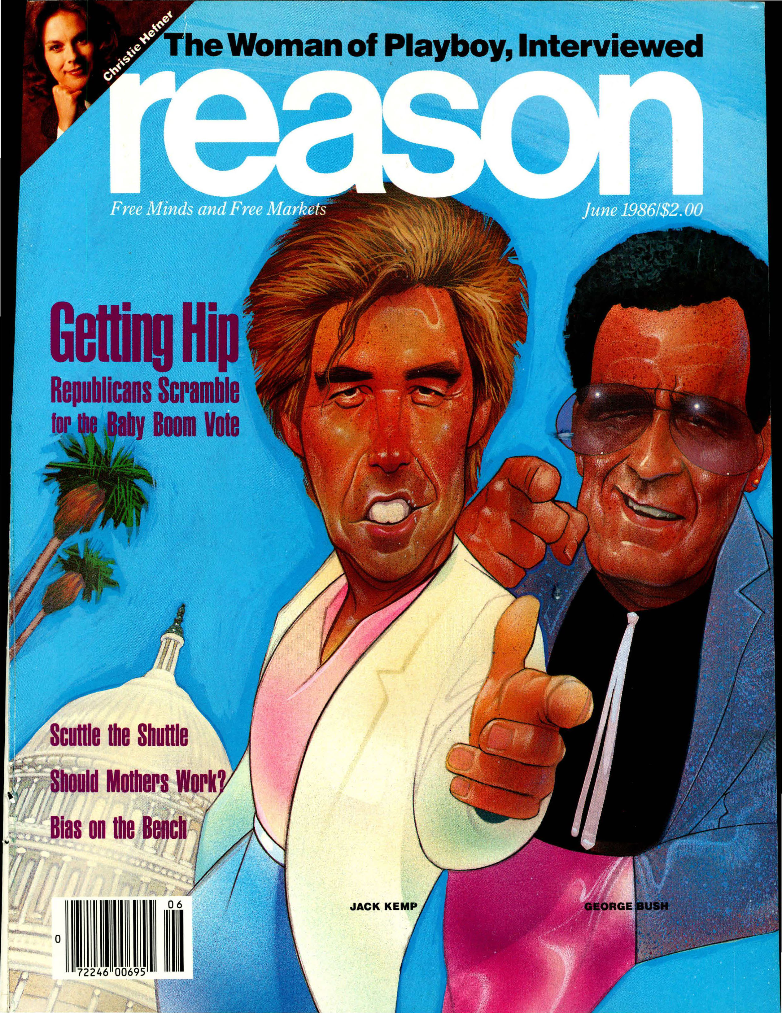 Reason Magazine, June 1986 cover image