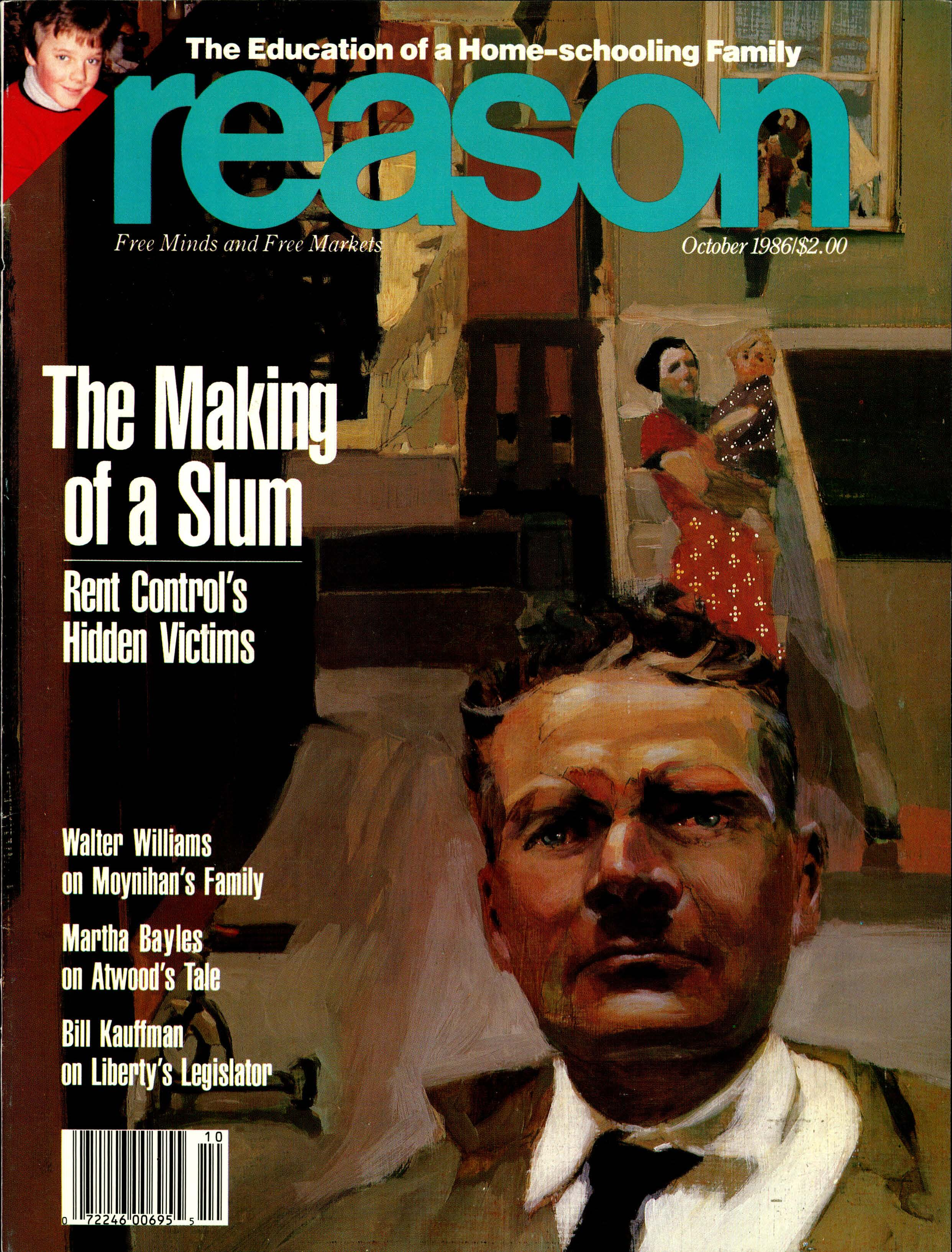 Reason Magazine, October 1986 cover image