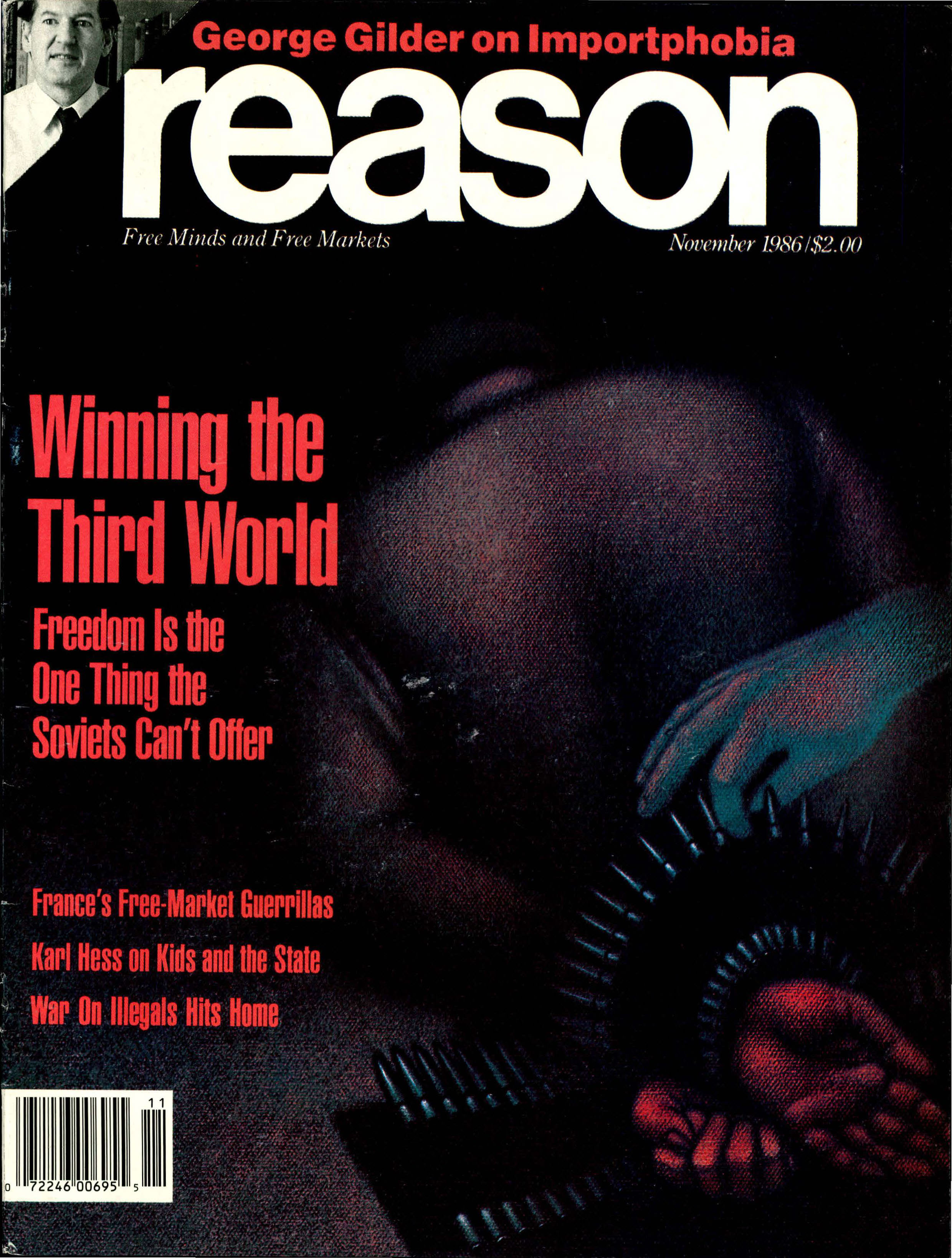 Reason Magazine, November 1986 cover image