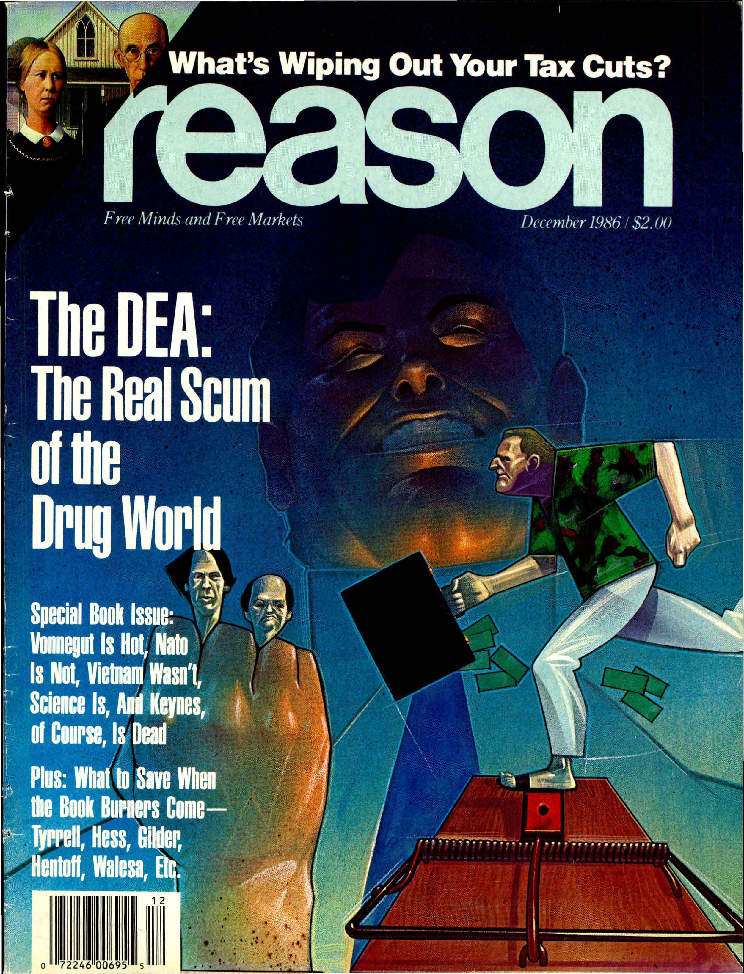 Reason Magazine, December 1986 cover image