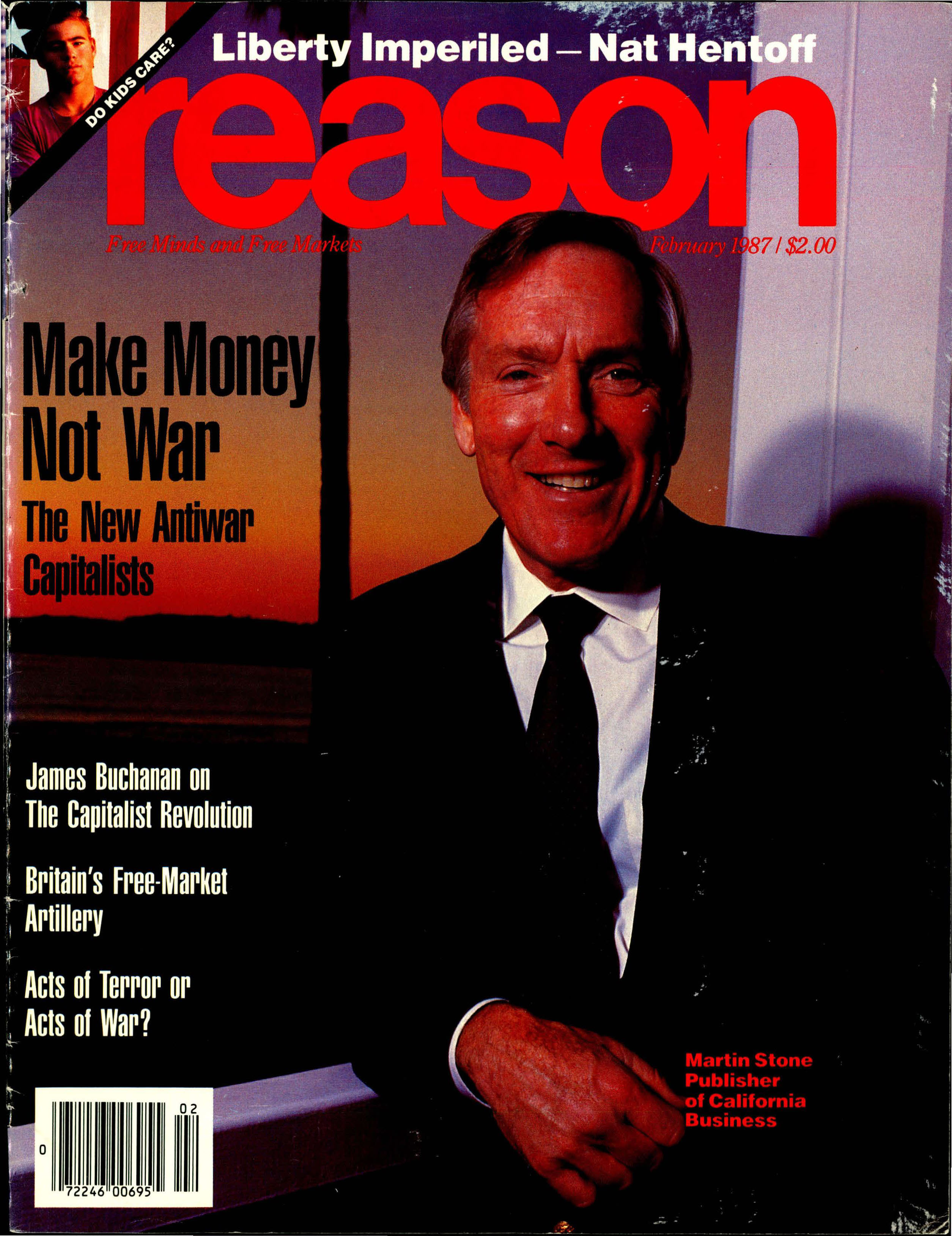 Reason Magazine, February 1987 cover image