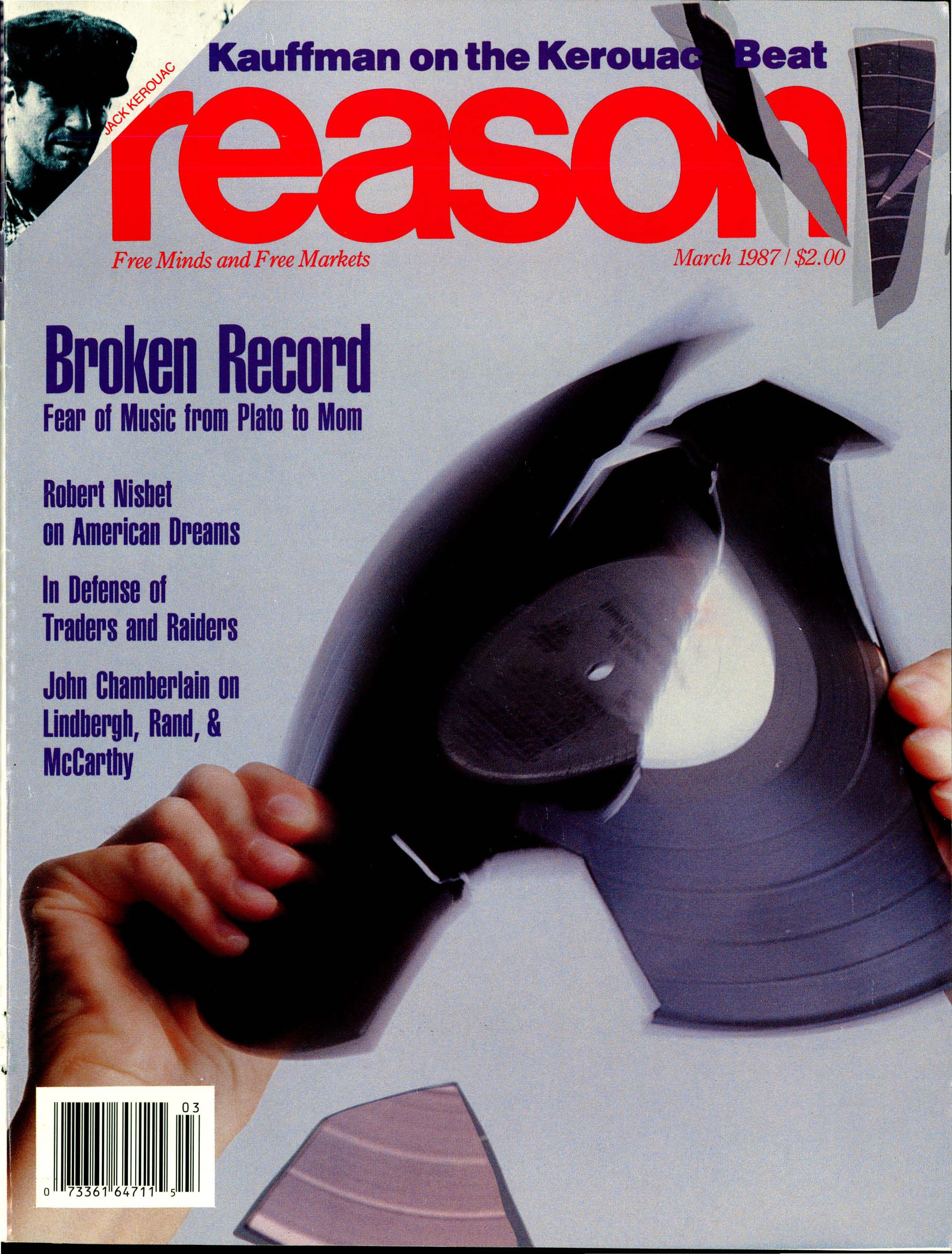 Reason Magazine, March 1987 cover image